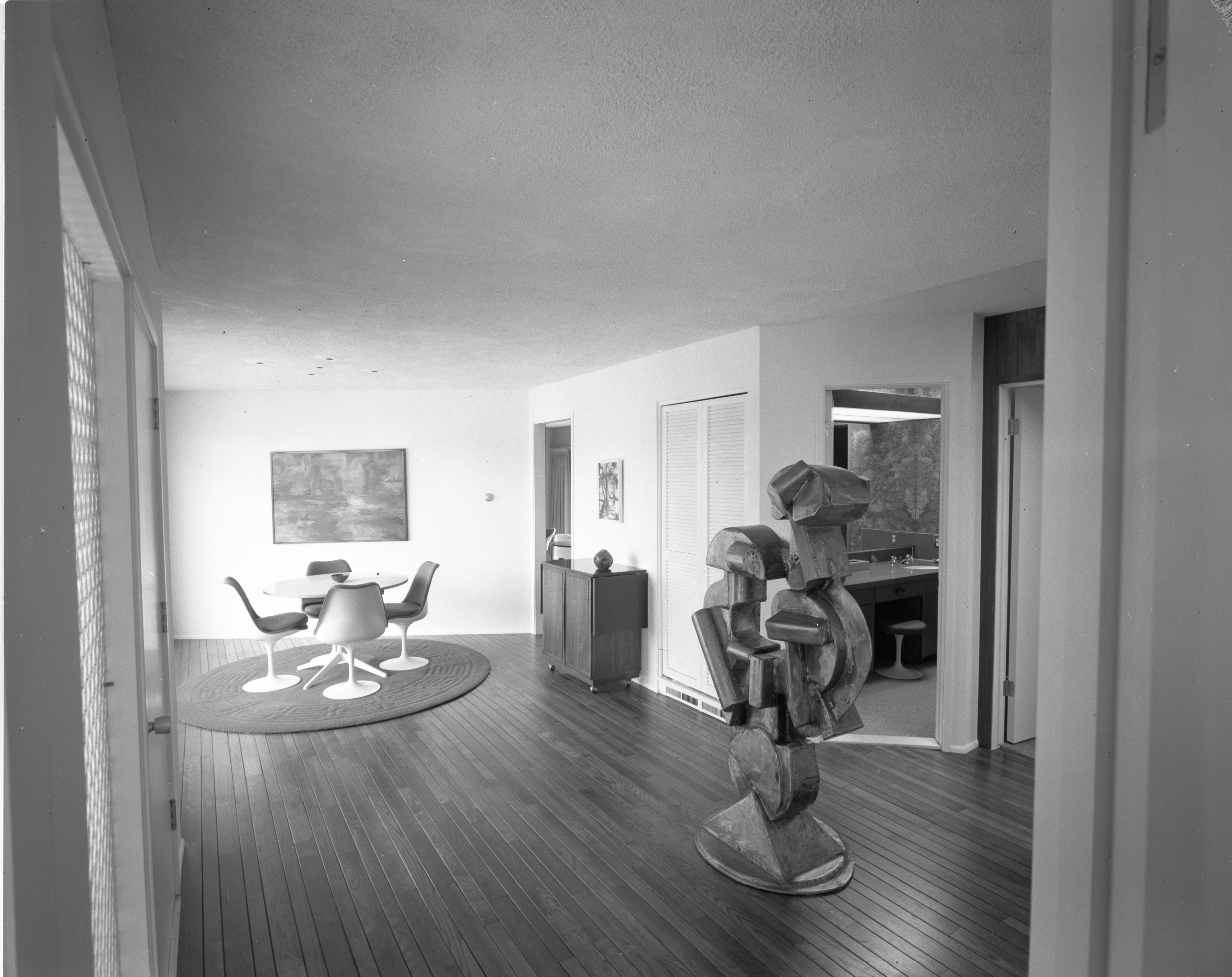 Sculpture Dominates Entrance Hall at Merlyn C. Keller Residence, April 1967 image