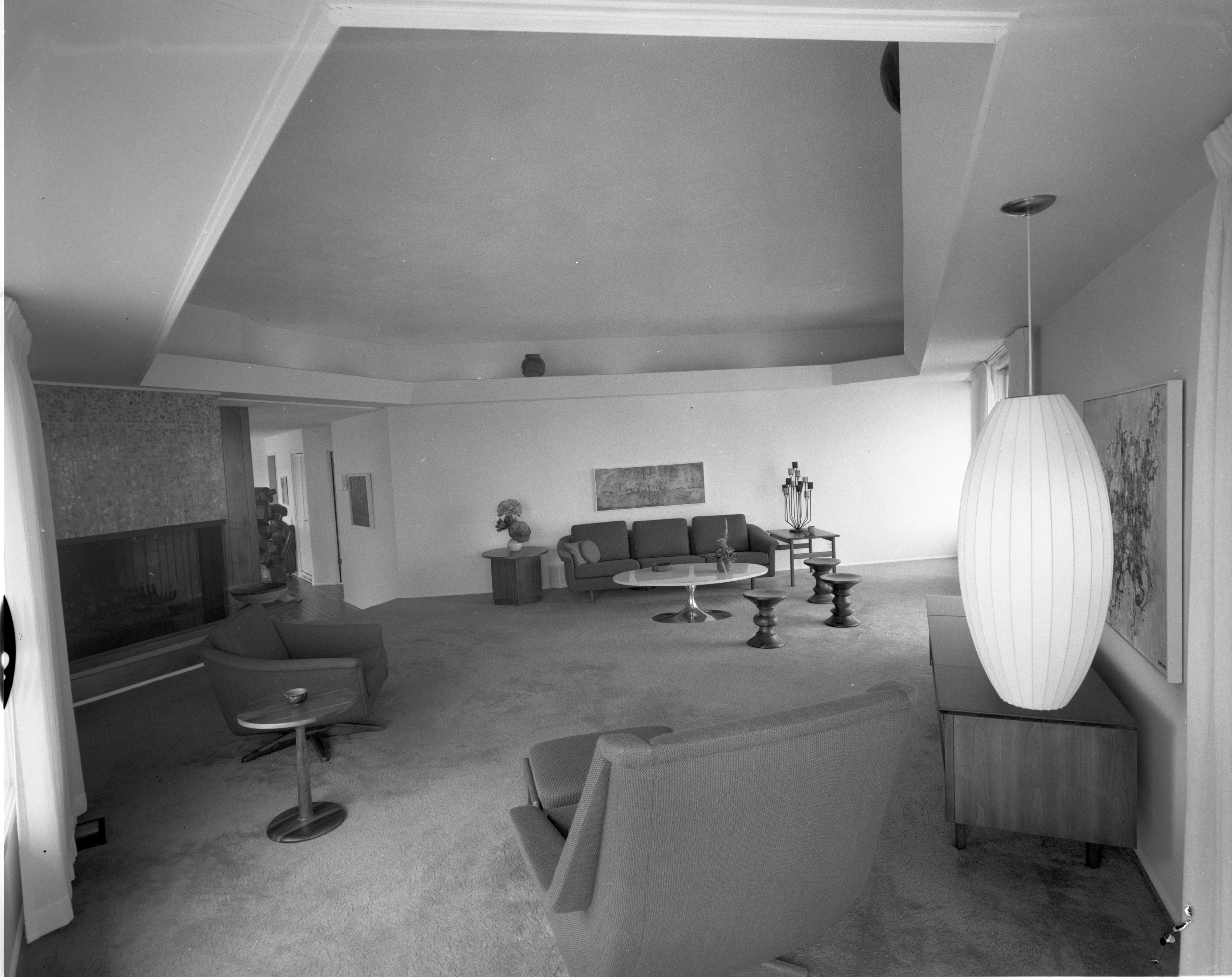 Ceilings an Architectural Feature at Merlyn C. Keller Residence, April 1967 image