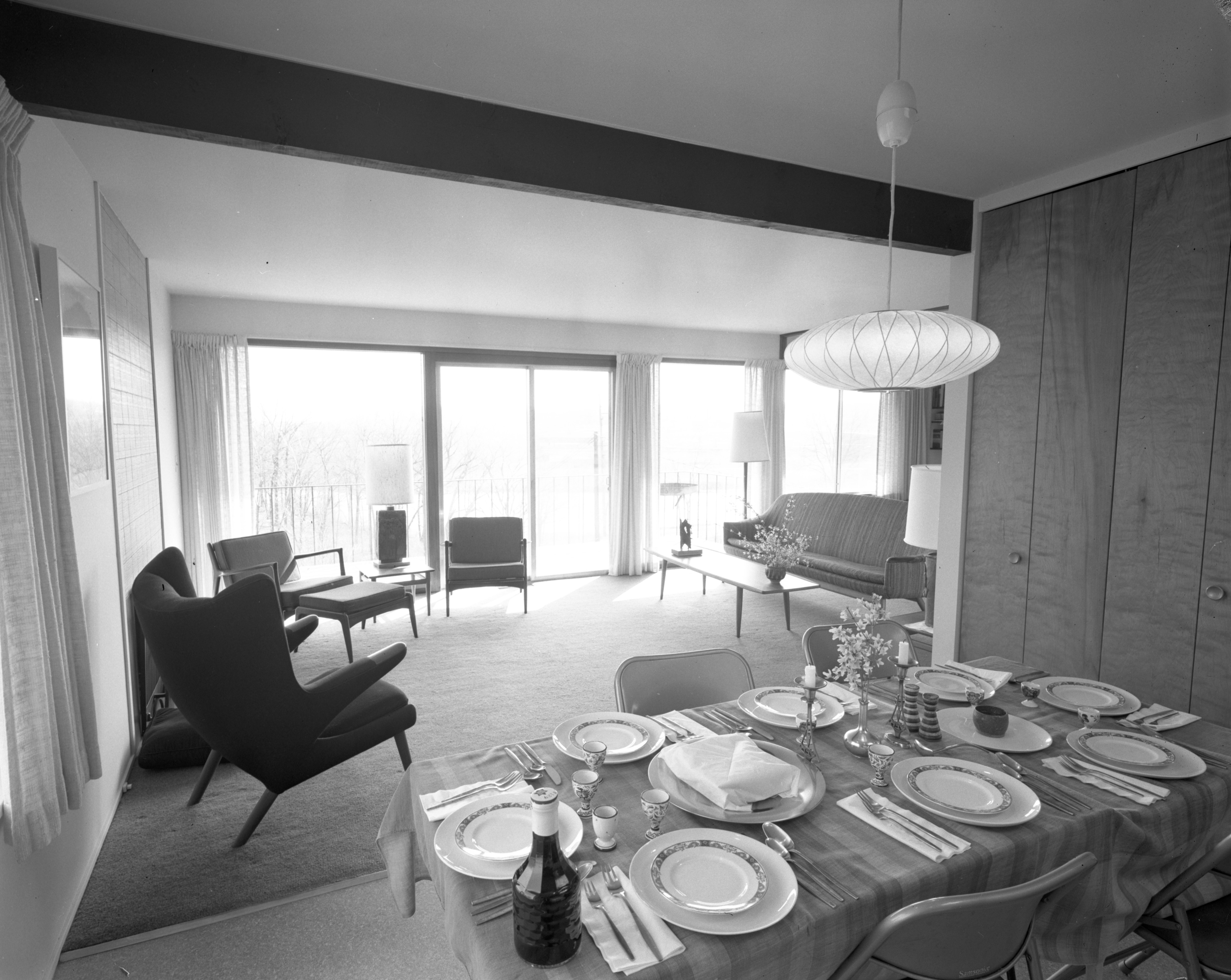 Spectacular Views of the Huron River at Myron Levine Home, April 1968 image