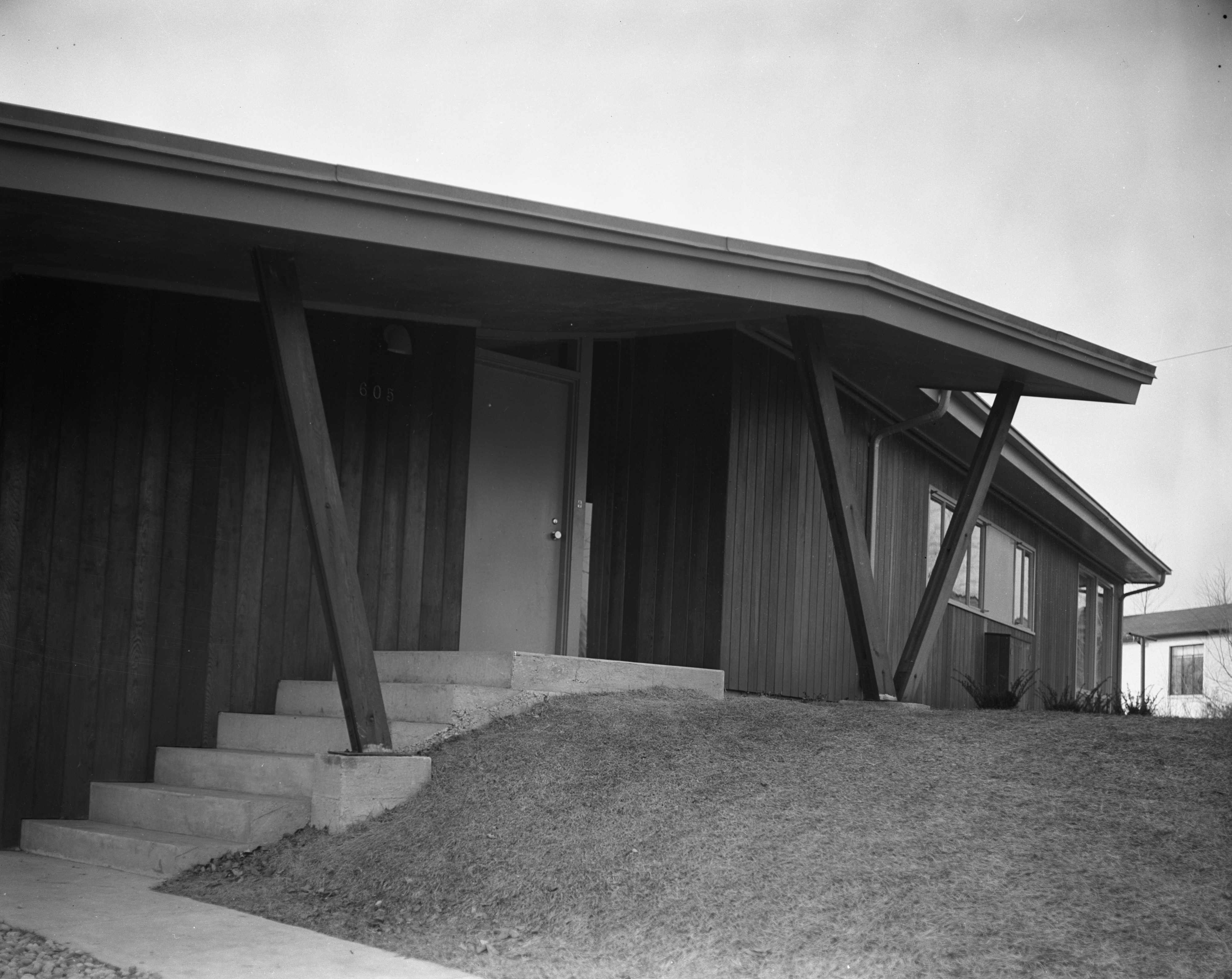 Covered Entranceway at Architect Richard M. Robinson Home On Huron View Blvd., 1953 image