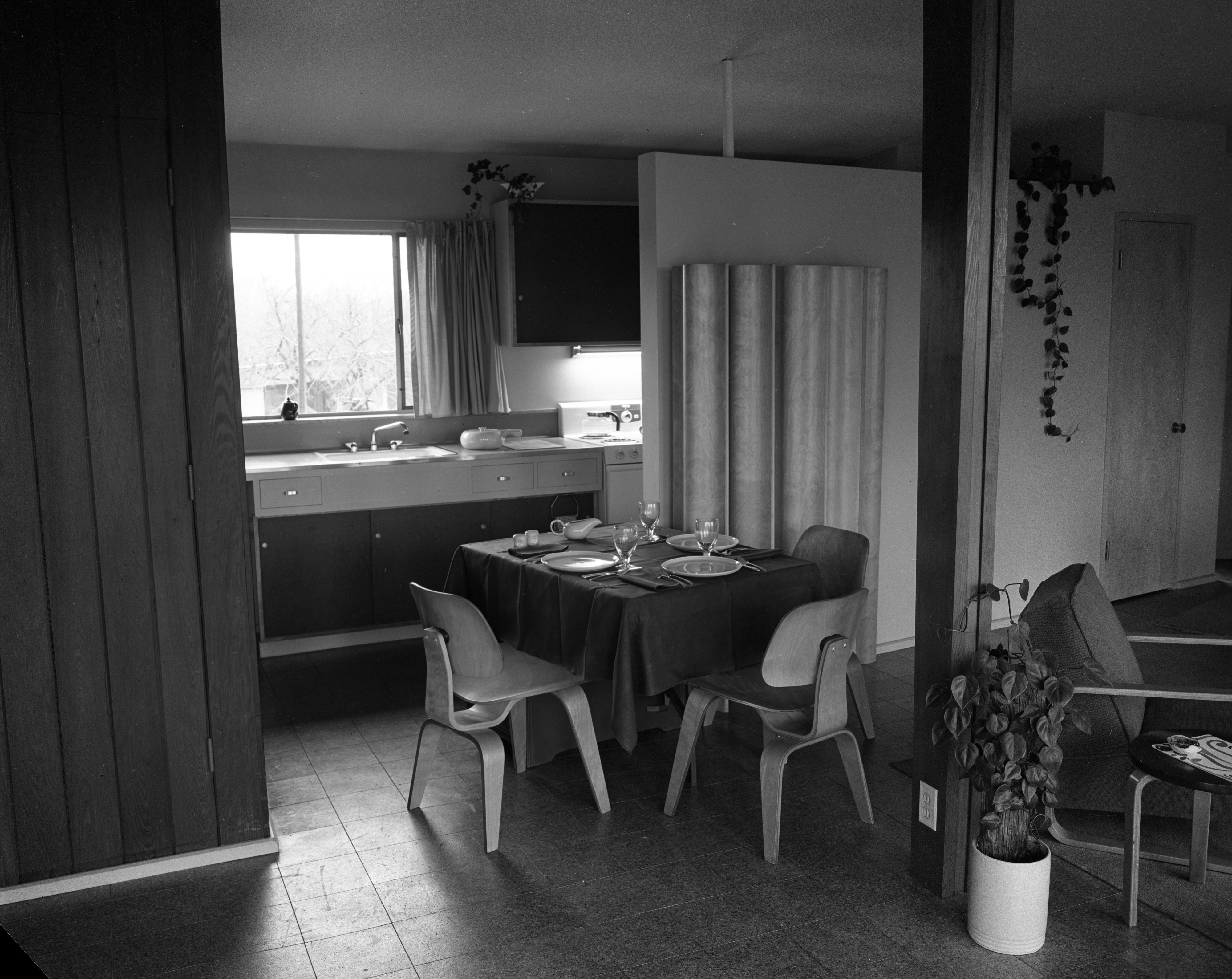 Kitchen/Dining Area At Architect Richard M. Robinson Home On Huron View Blvd., 1953 image