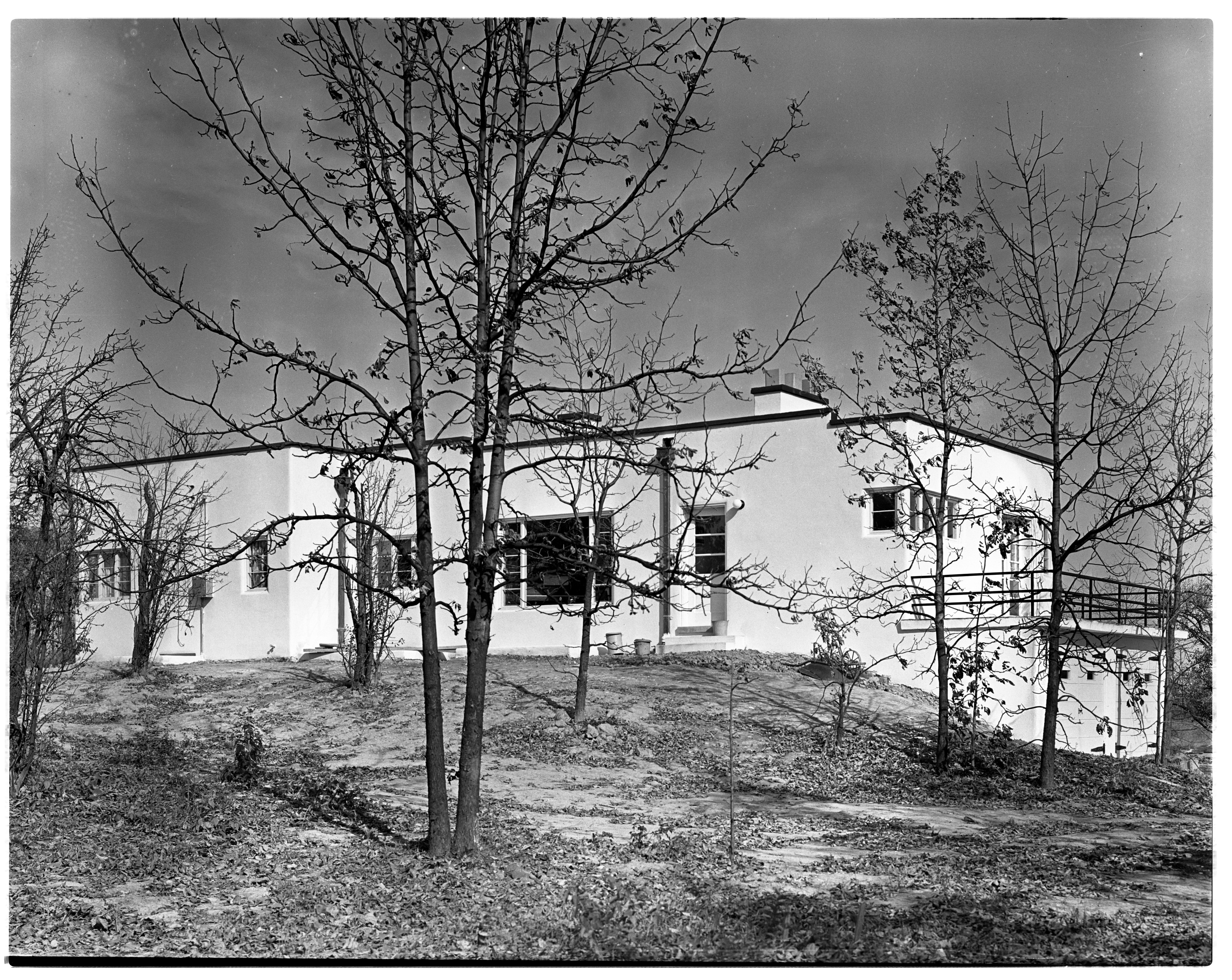 Rufus Home, exterior, Ann Arbor Hills, October 1938 image