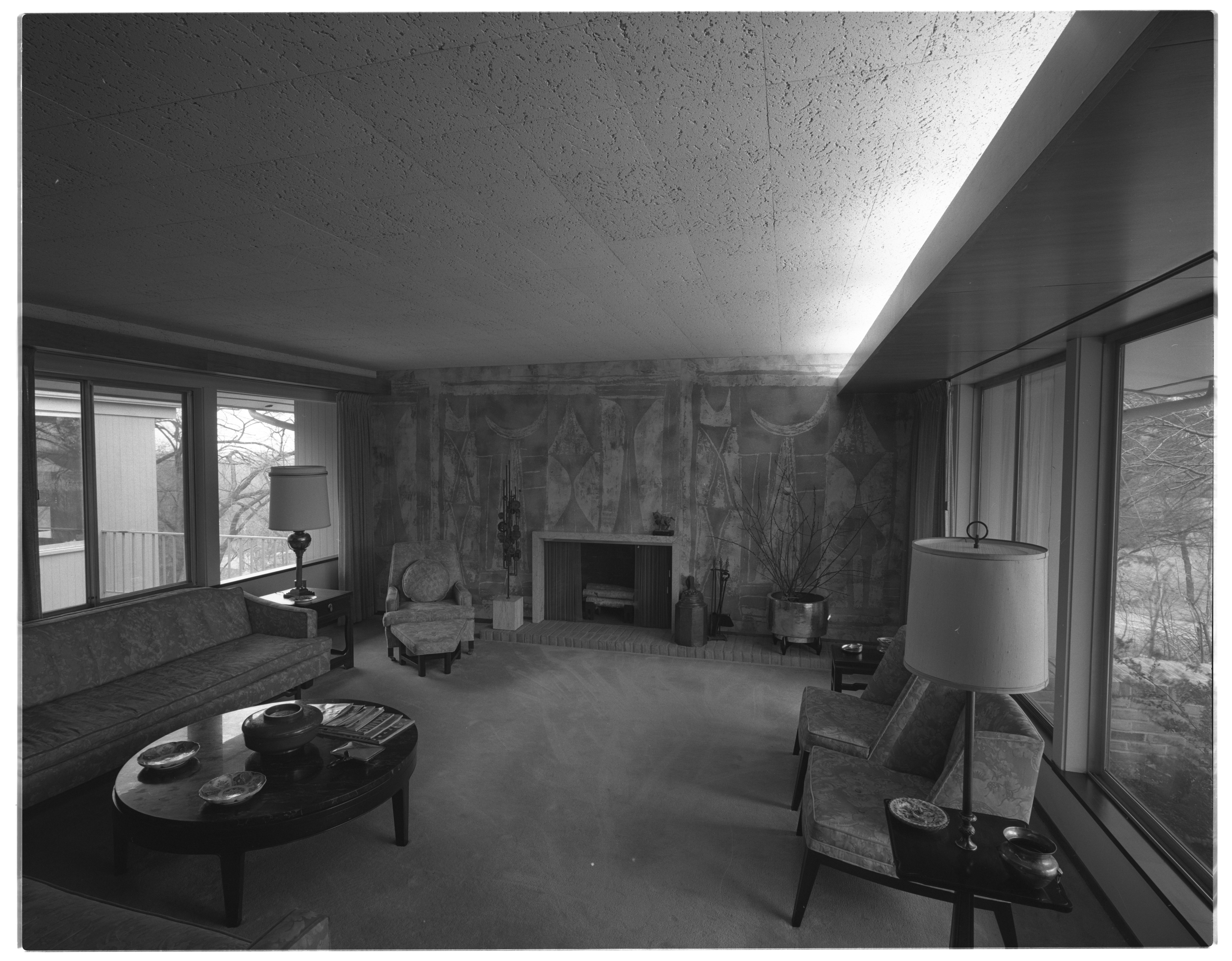 Windows Frame Living Room of Mrs. Henry Wege Home, April 1969 image