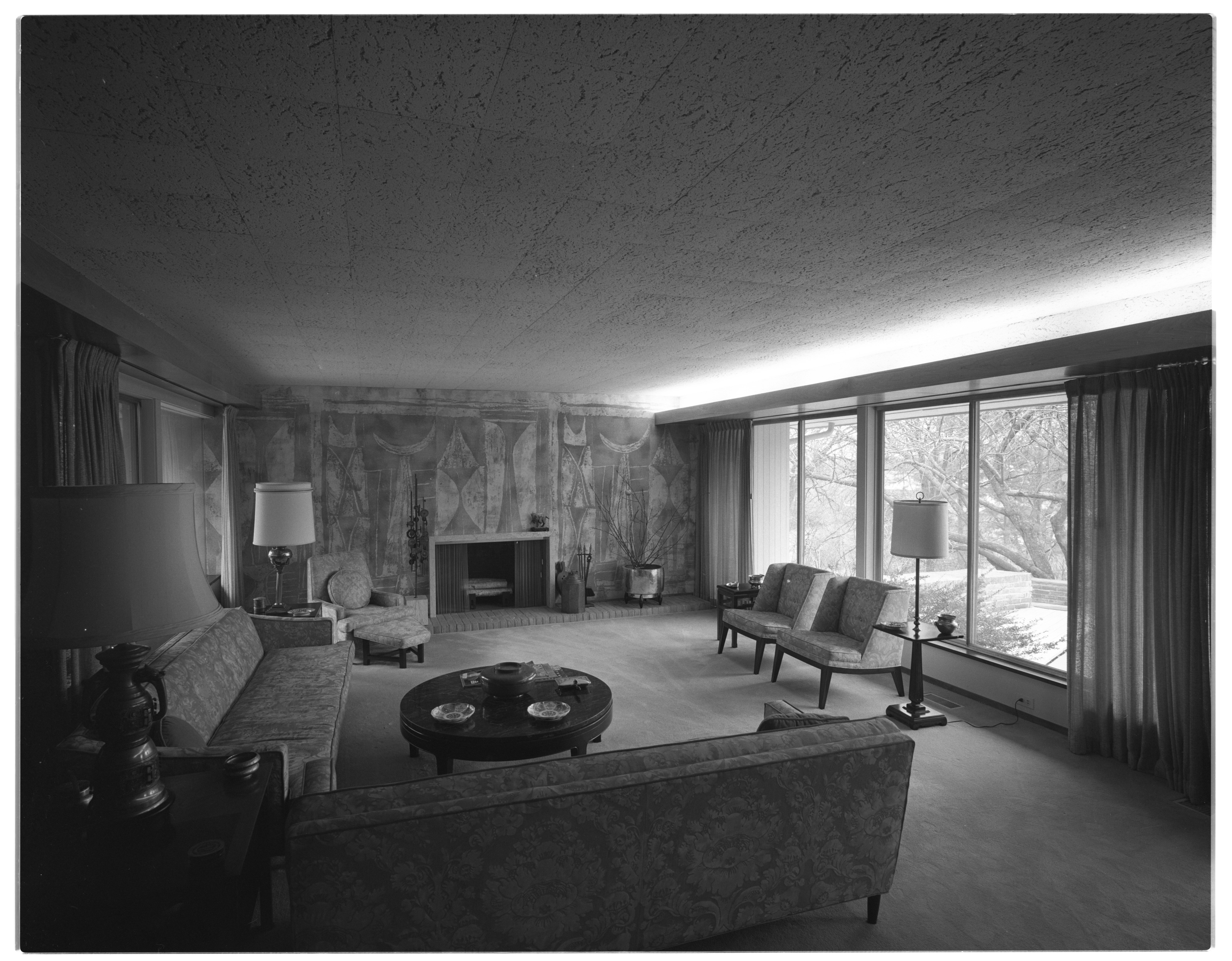 Mural Surrounds Fireplace of Mrs. Henry Wege Home, April 1969 image