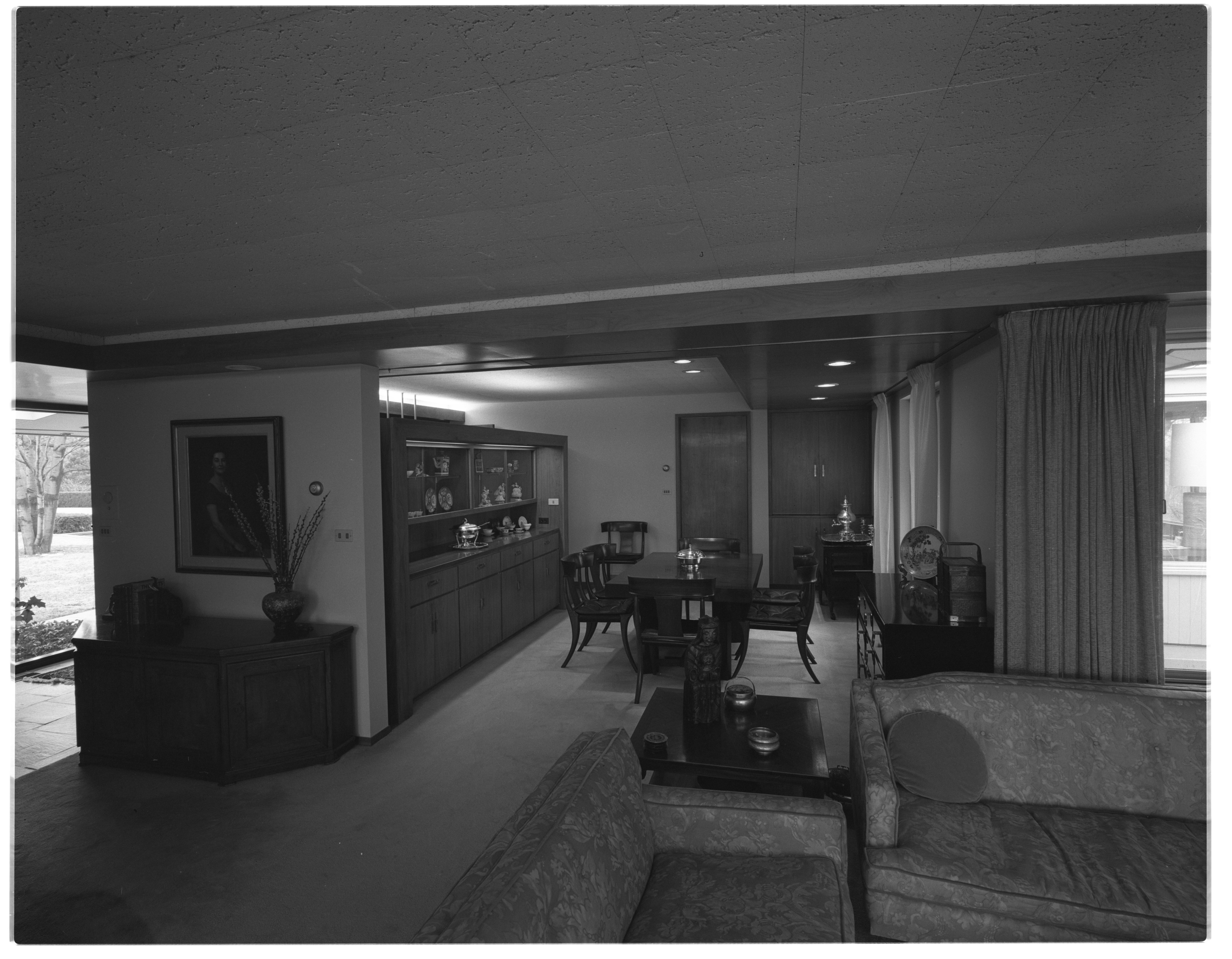 Dining Room of Mrs. Henry Wege Home, April 1969 image