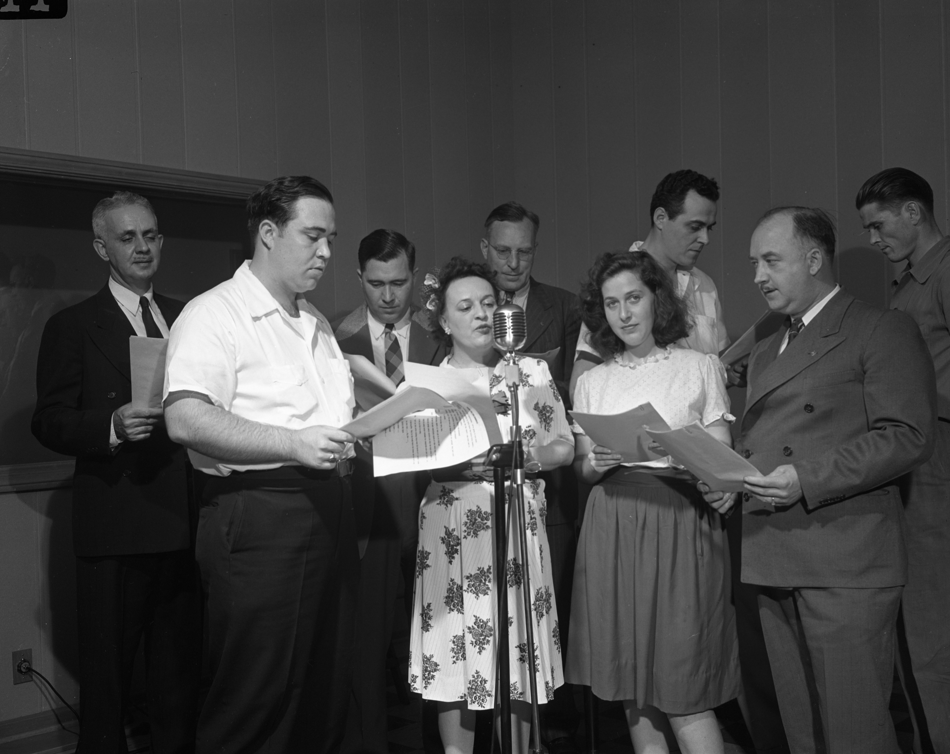 UAW-CIO Union Broadcast at WPAG, June 1945 image