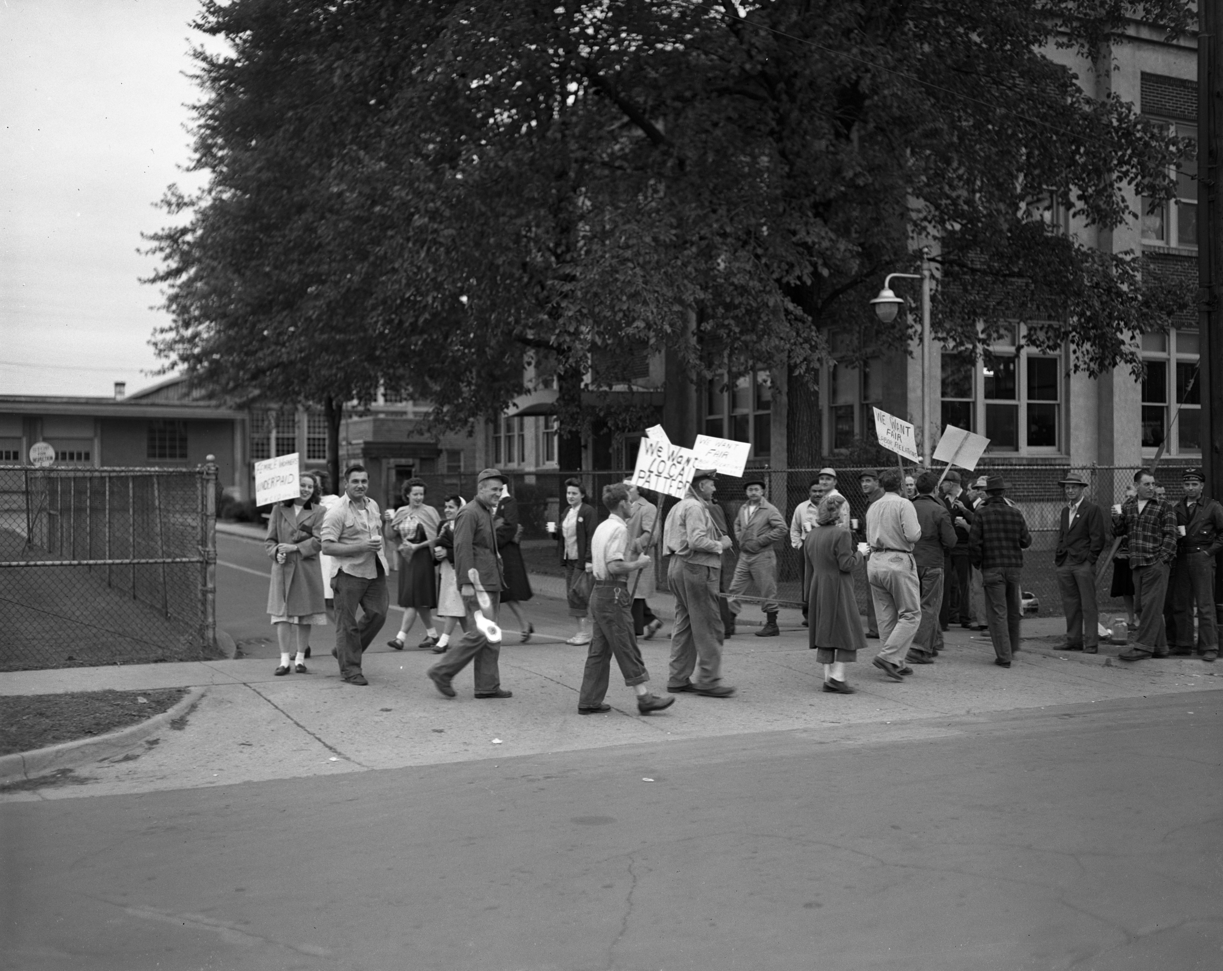First day of picketing in the Hoover Ball Company strike, September 1948 image