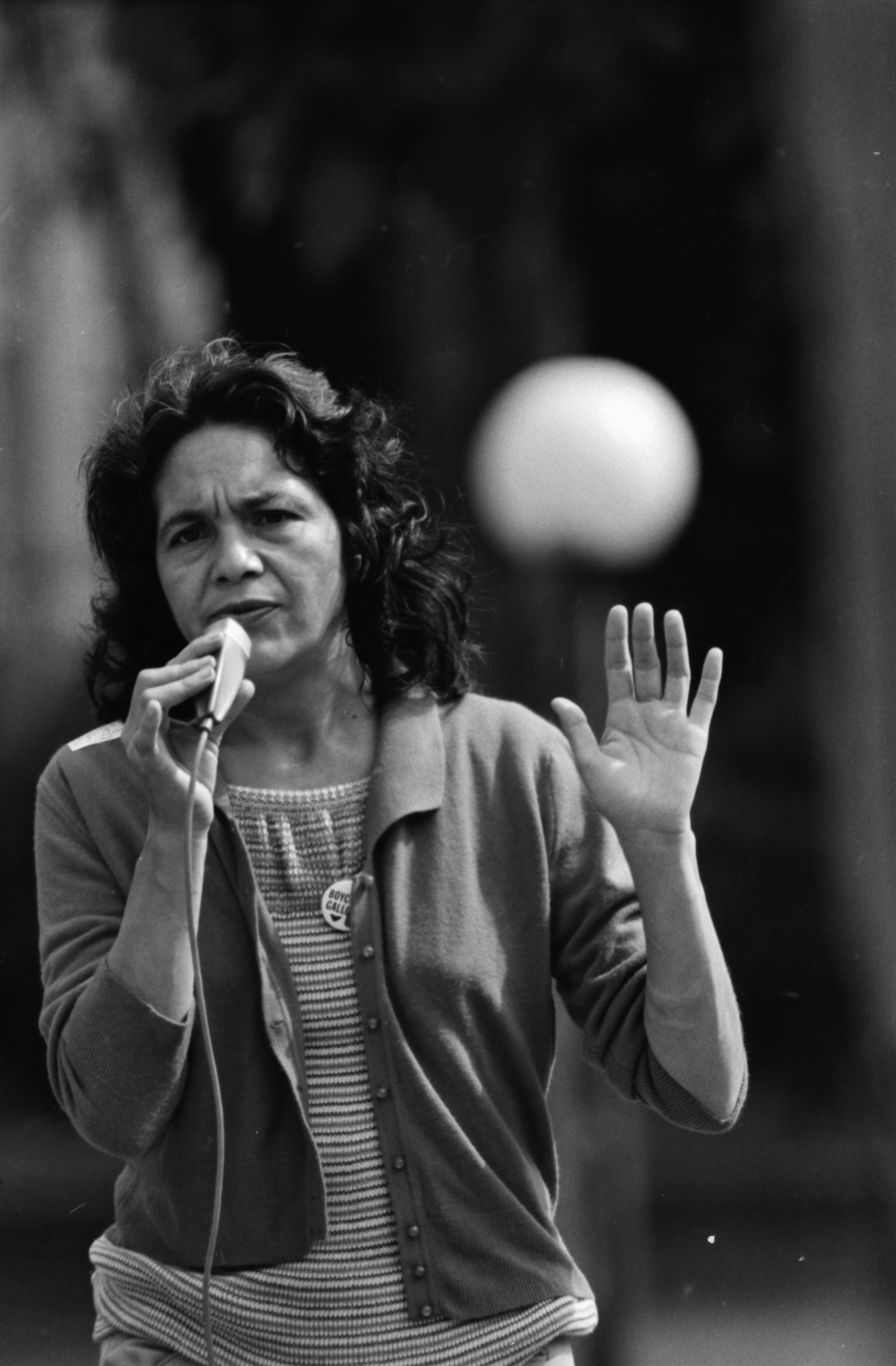 Ms. Dolores Huerta, highest ranking woman in the U.S. in labor addresses a rally at U-M Diag, September 1974 image