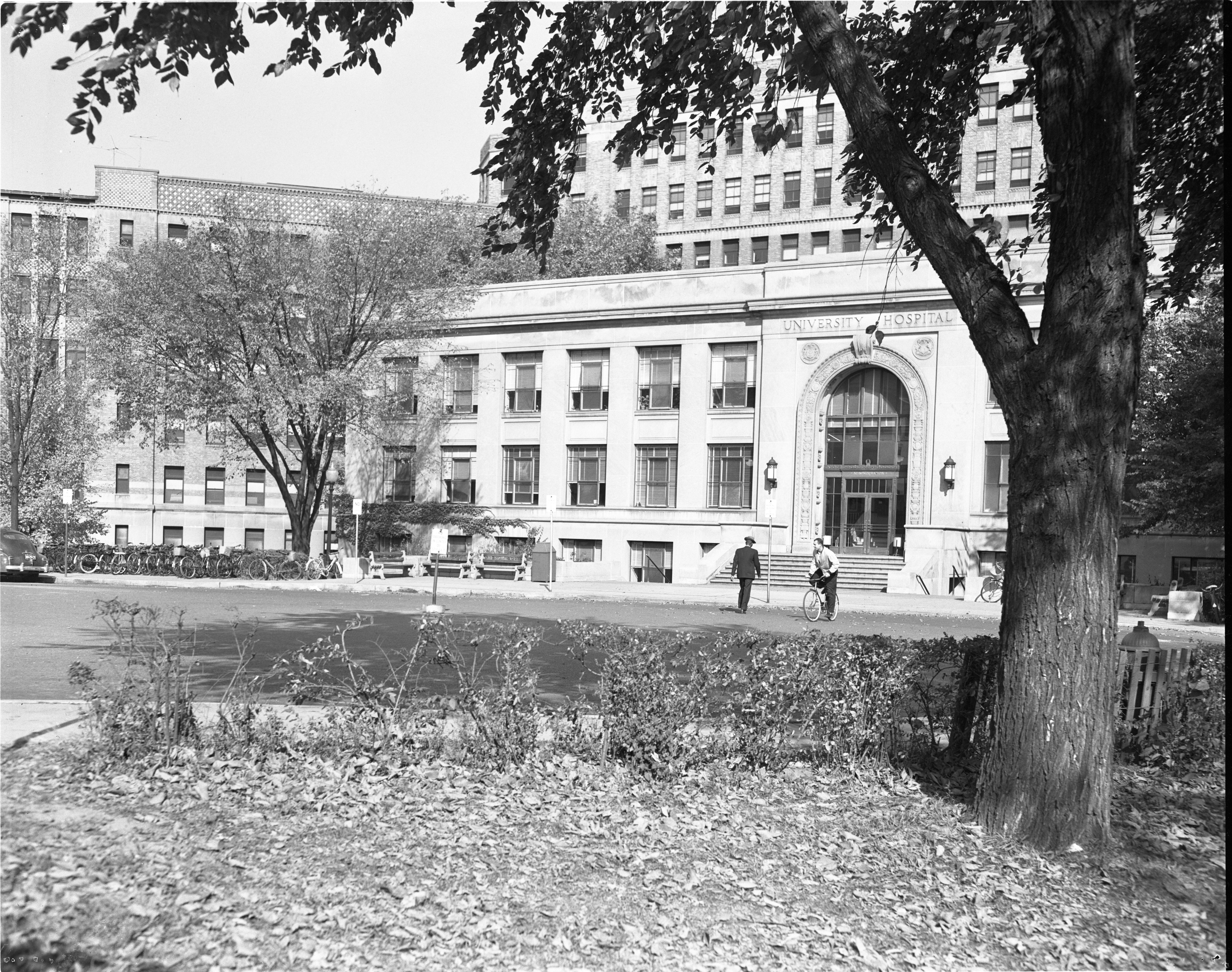 Main Entrance Of University Hospital, October 1953 image