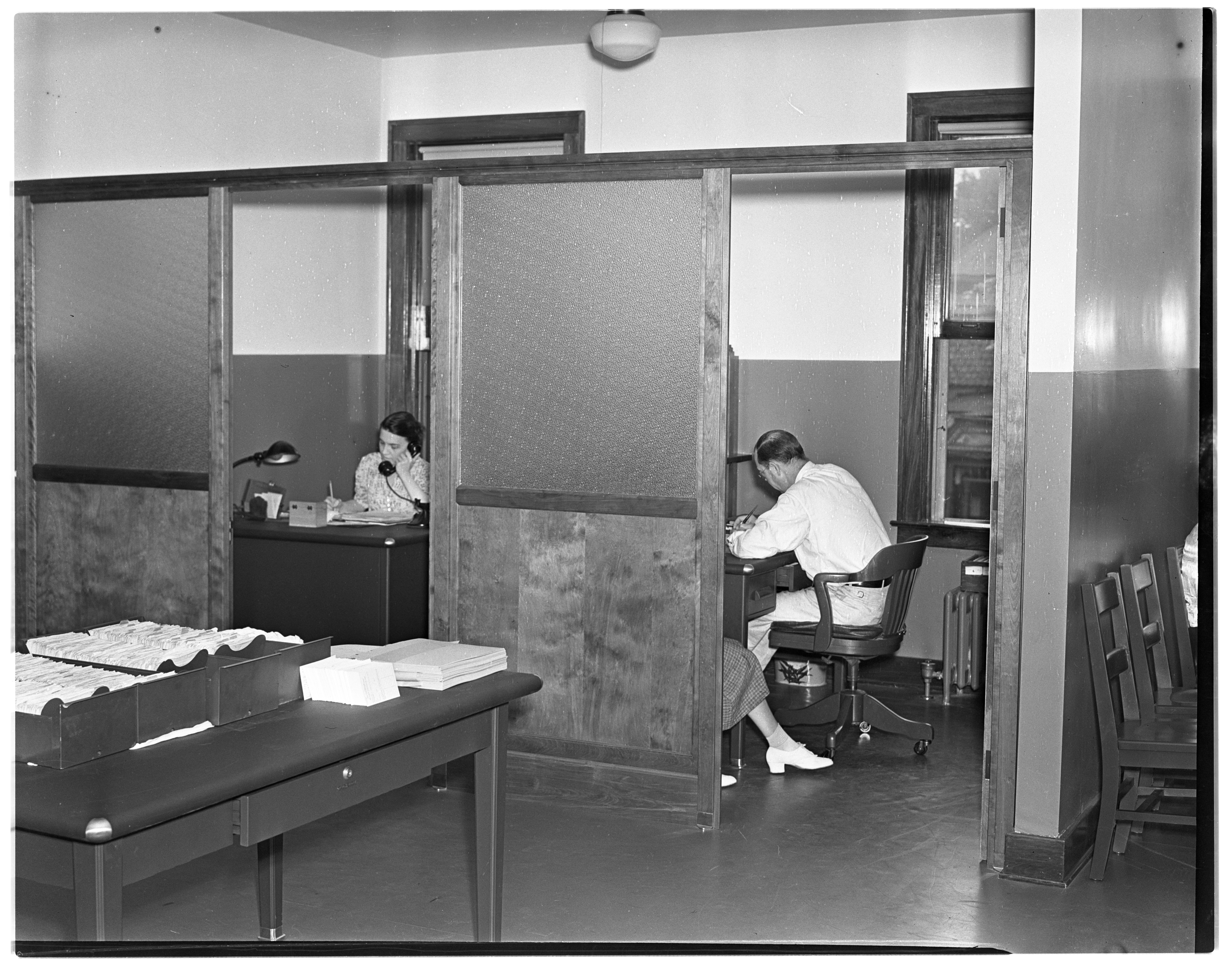 Interior of Michigan State Unemployment Office New Quarters image