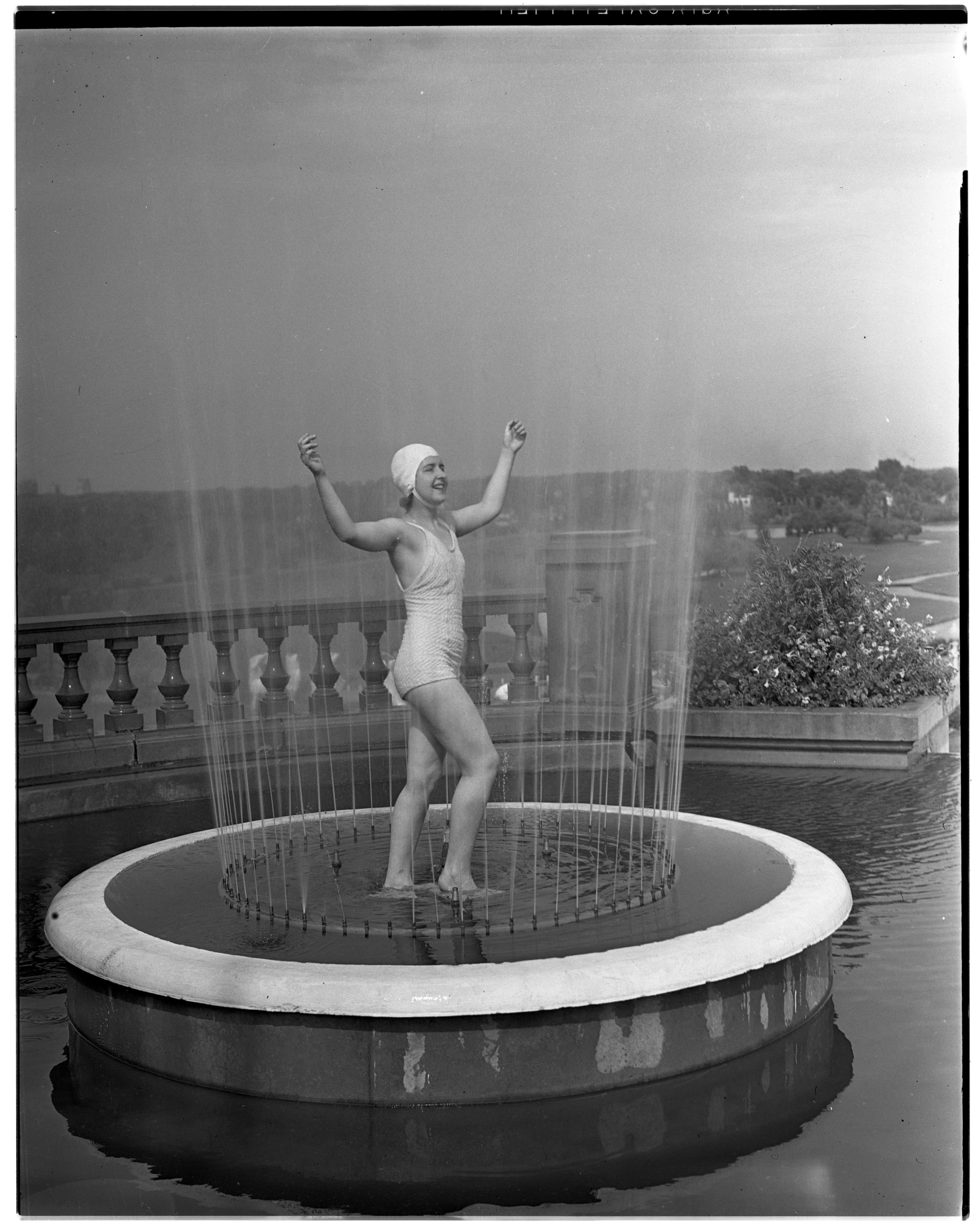 Jackson Cascades Carnival, a Girl in a Fountain Pool image