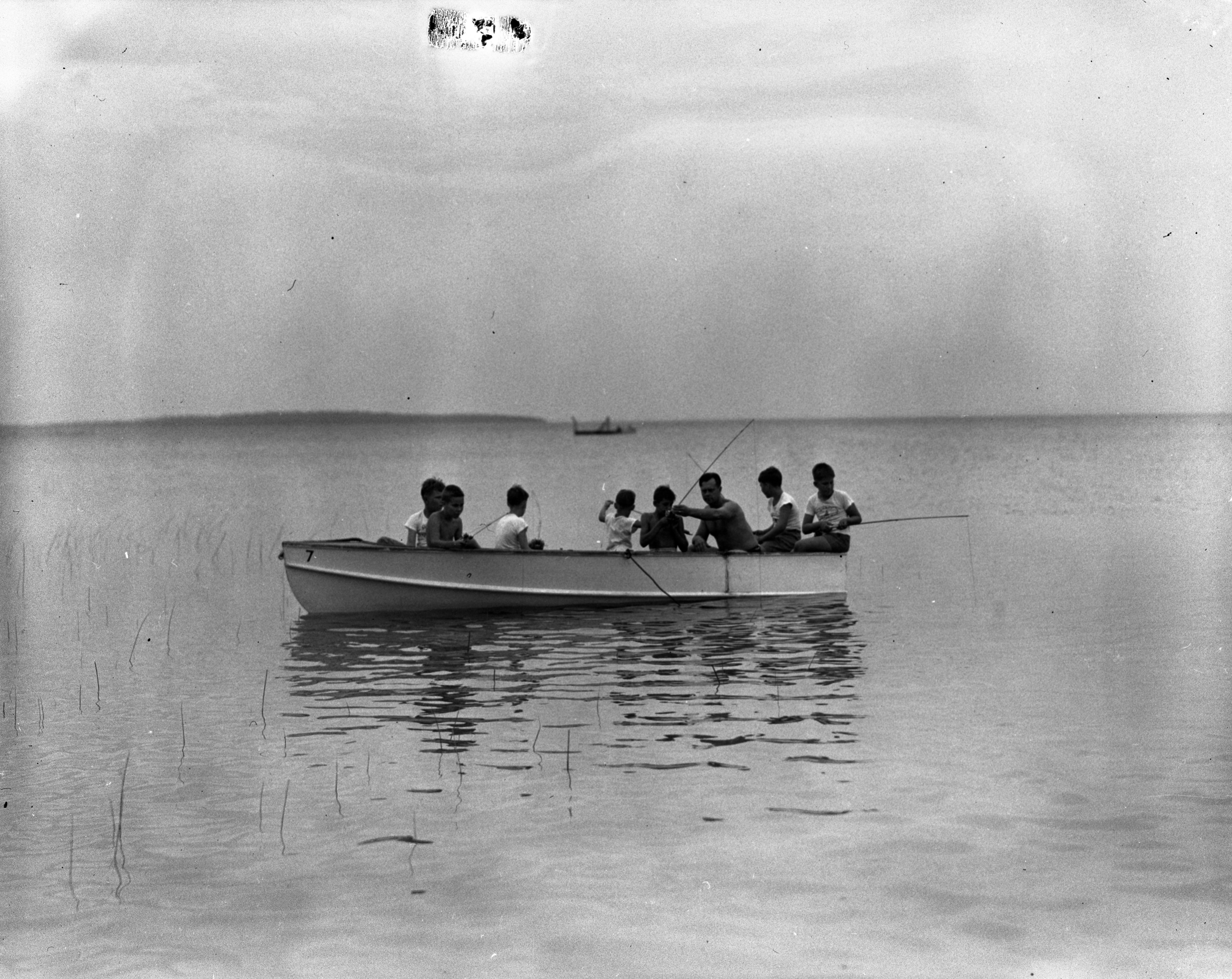 Fishing at Shady Trails Speech Improvement Camp, Summer 1944 image