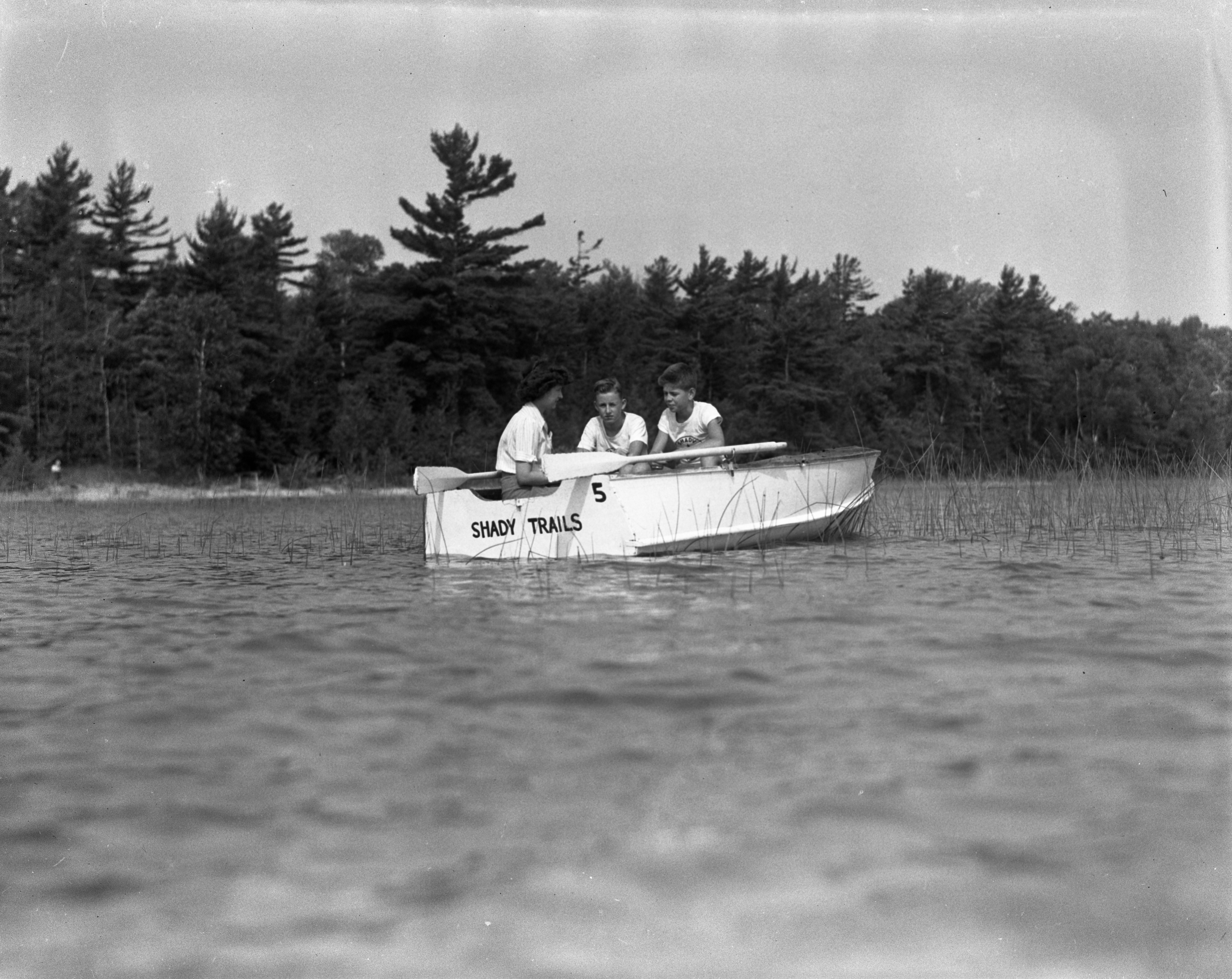 In the Shady Hills Boat at Shady Trails Speech Improvement Camp, Summer 1944 image