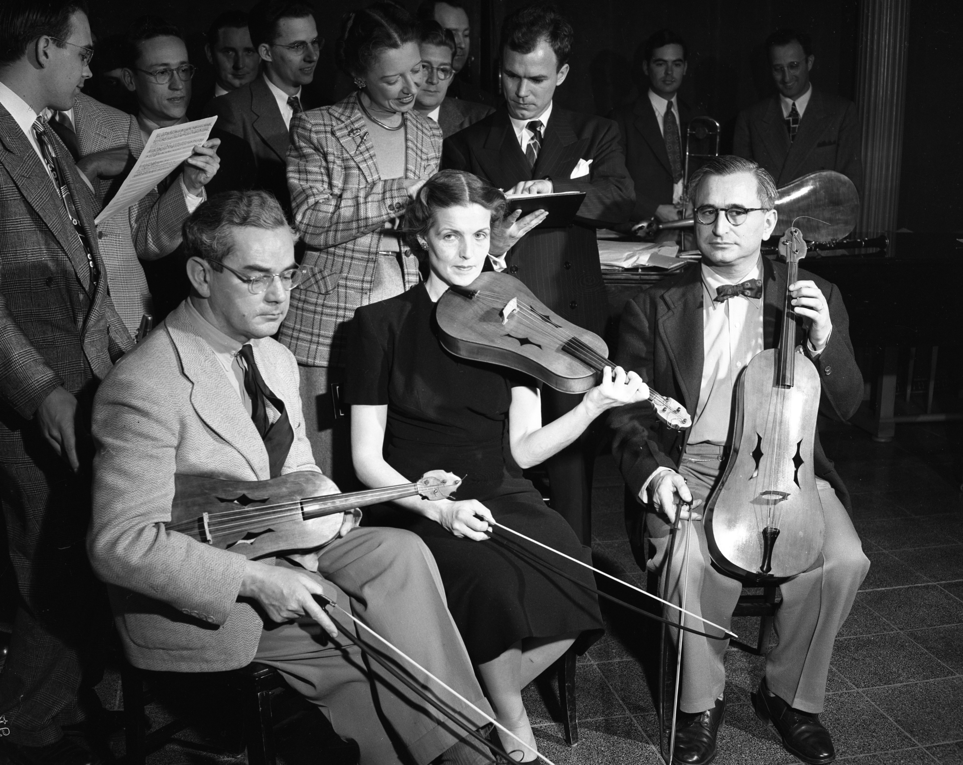 15th century jam session with the Vielle Trio, January 1949 image