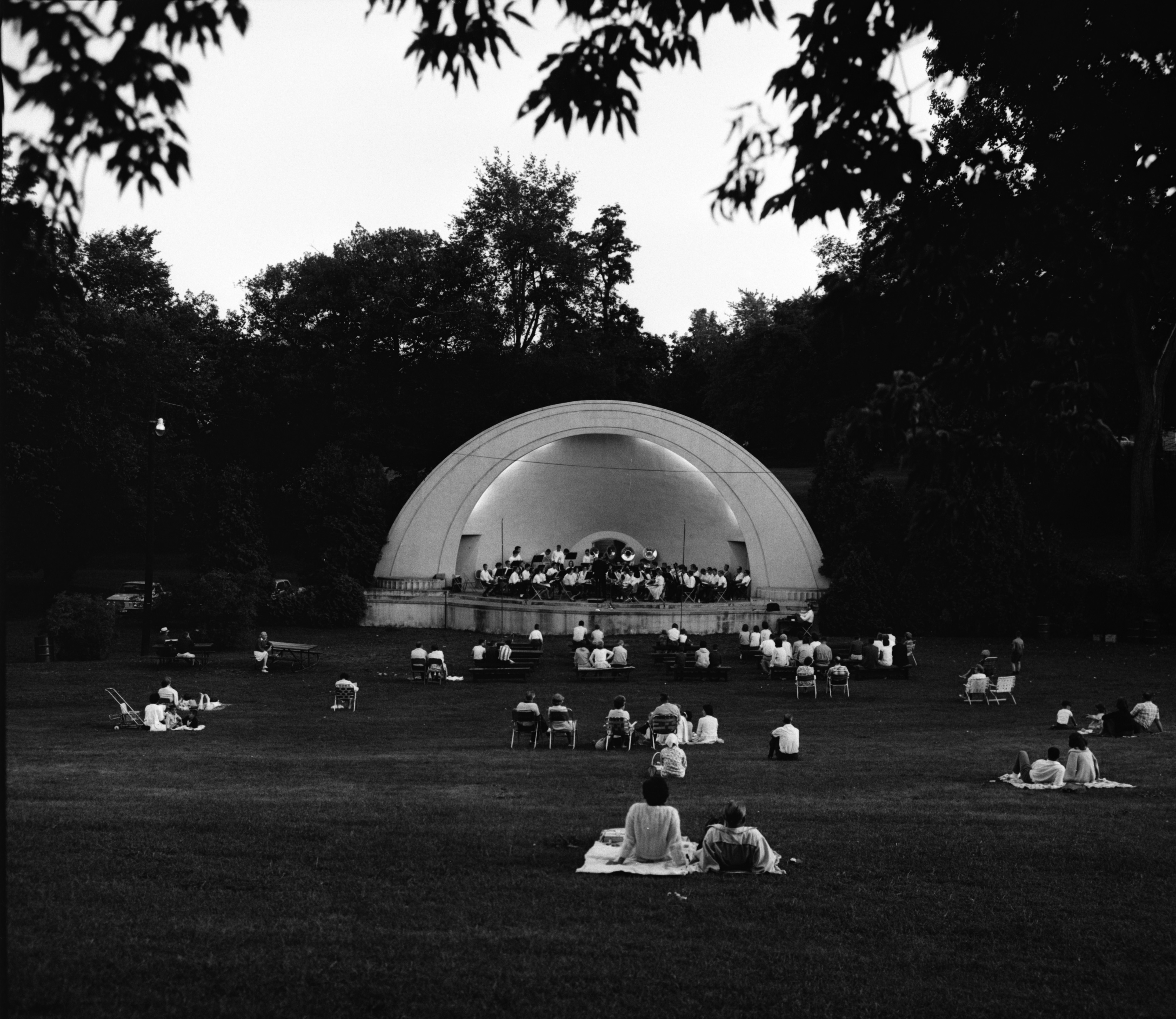 West Park Bandshell in Evening image
