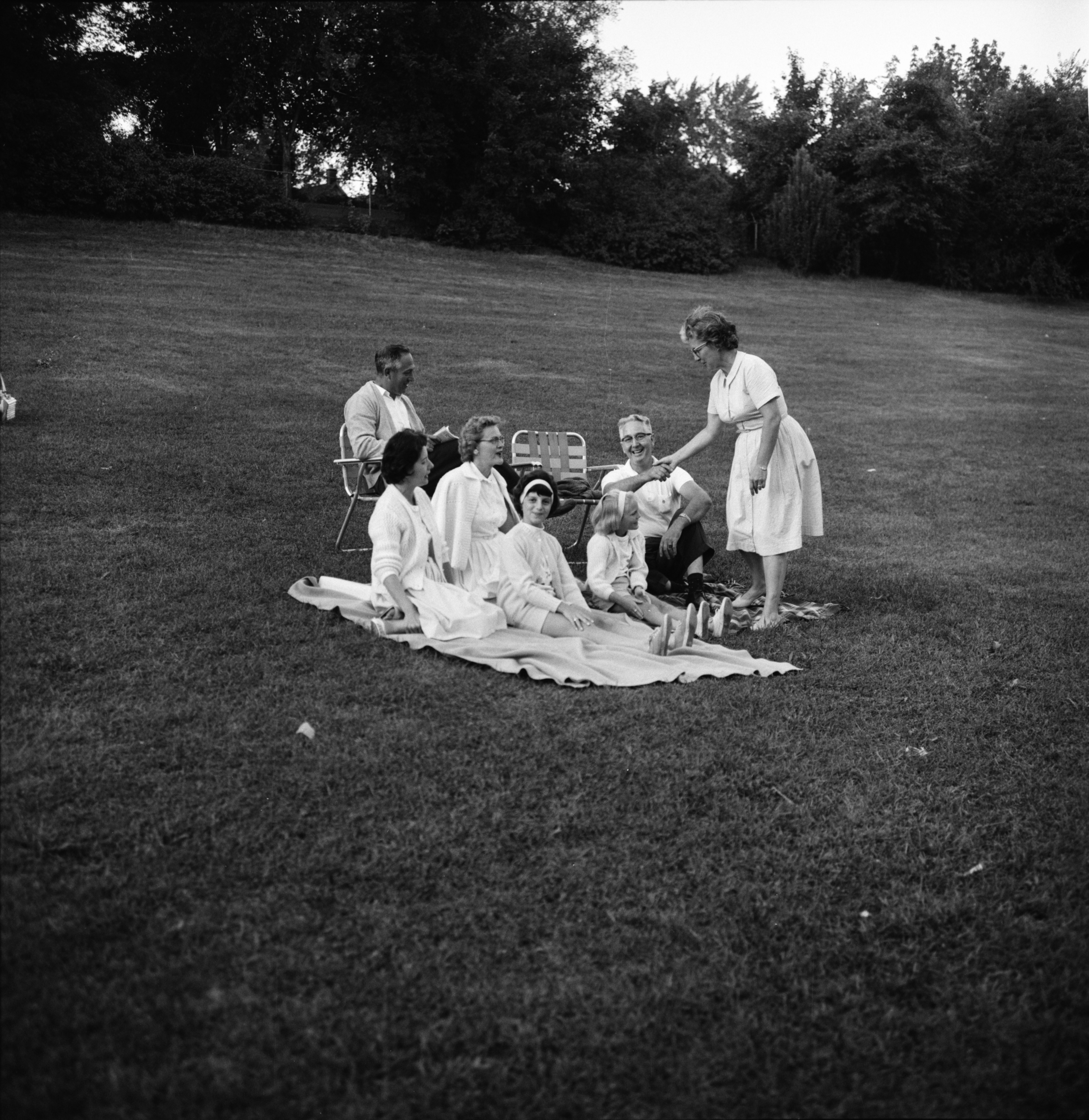 Enjoying a Concert in West Park, August 1964 image