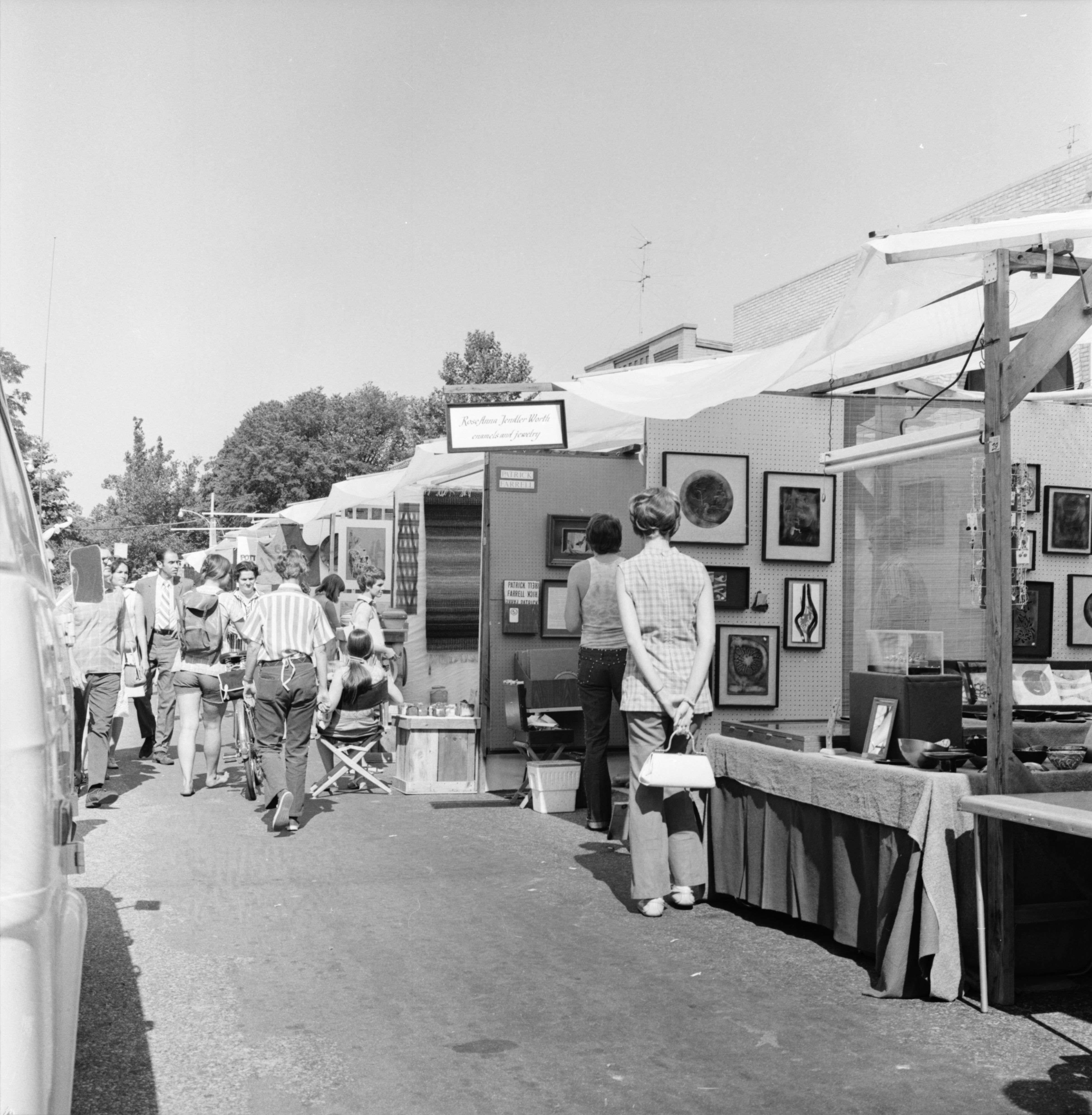 Along the street at the Ann Arbor Street Art Fair, July 1971 image