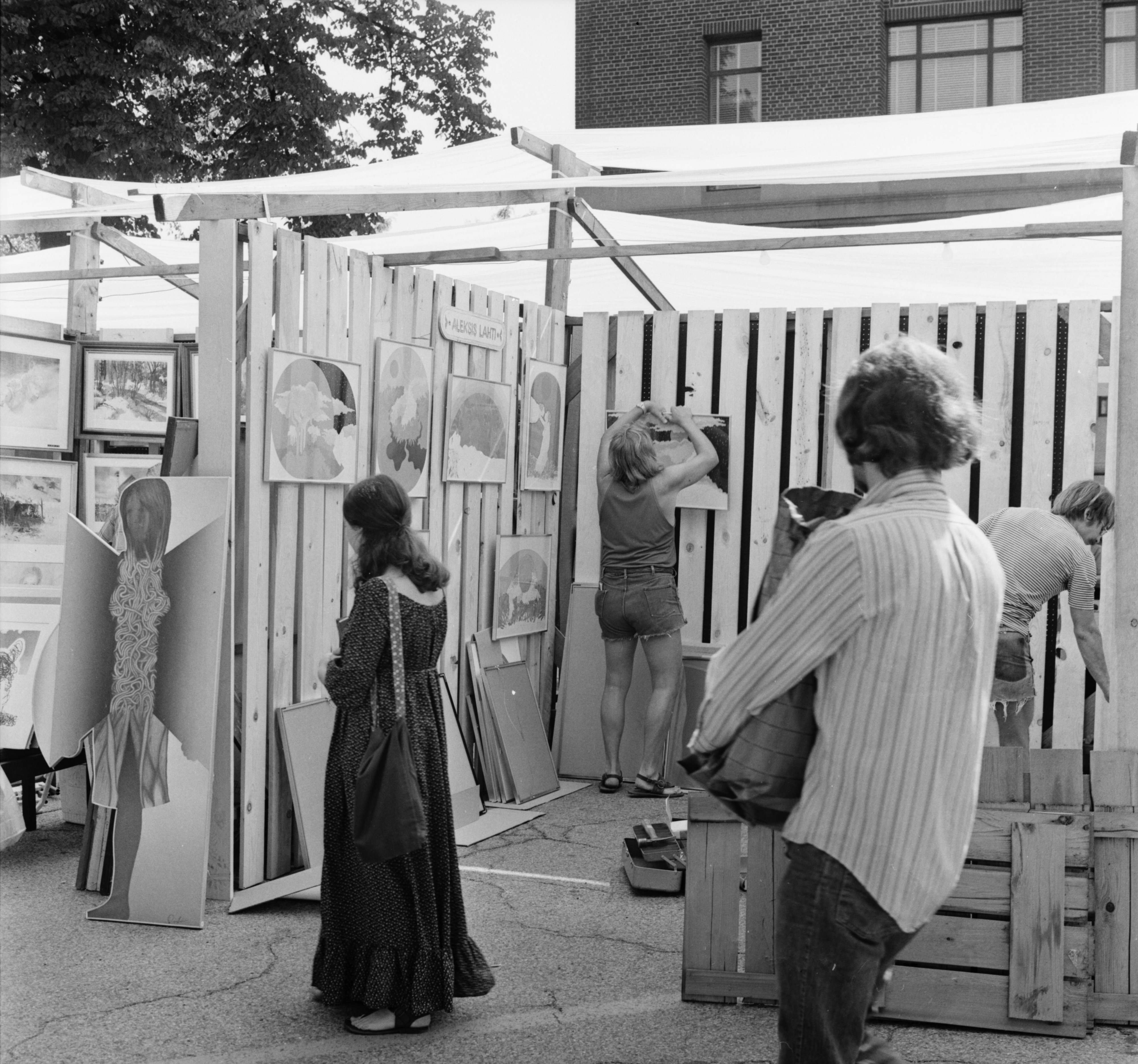Alexsis Lahti's booth at the Ann Arbor Street Art Fair, July 1971 image