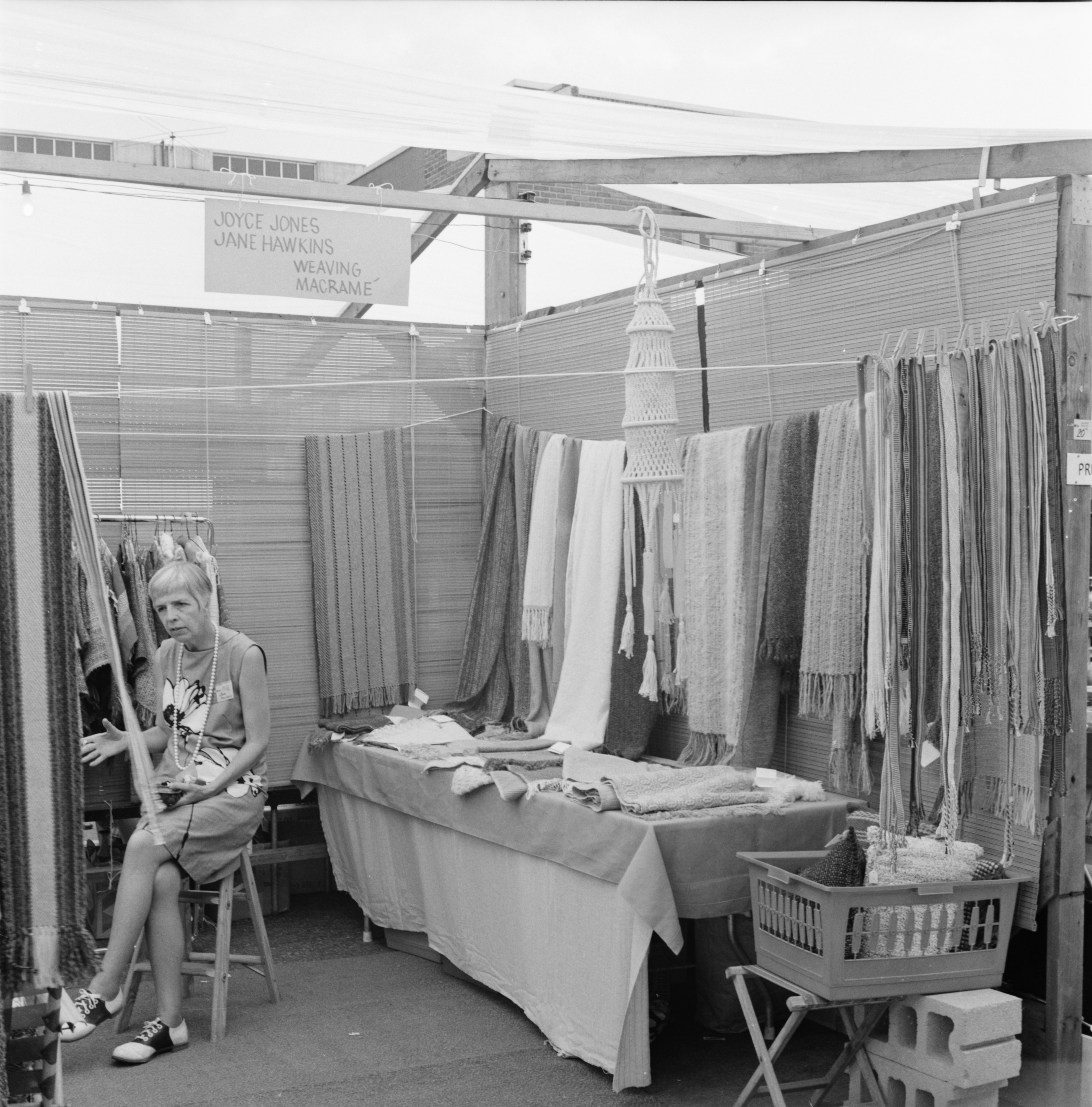 Booth of Jane Hawkins at the Ann Arbor Street Art Fair, July 1971 image