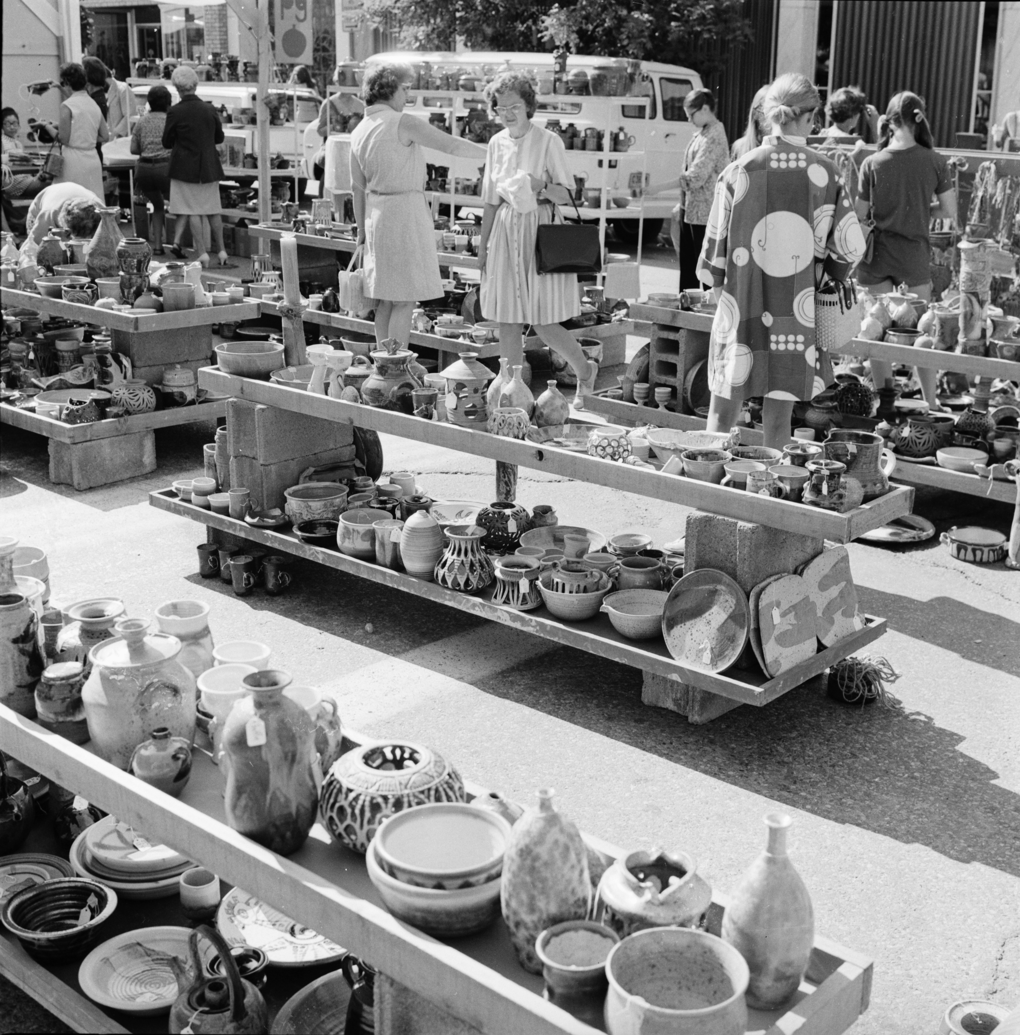 Pottery at the Ann Arbor Street Art Fair, July 1971 image