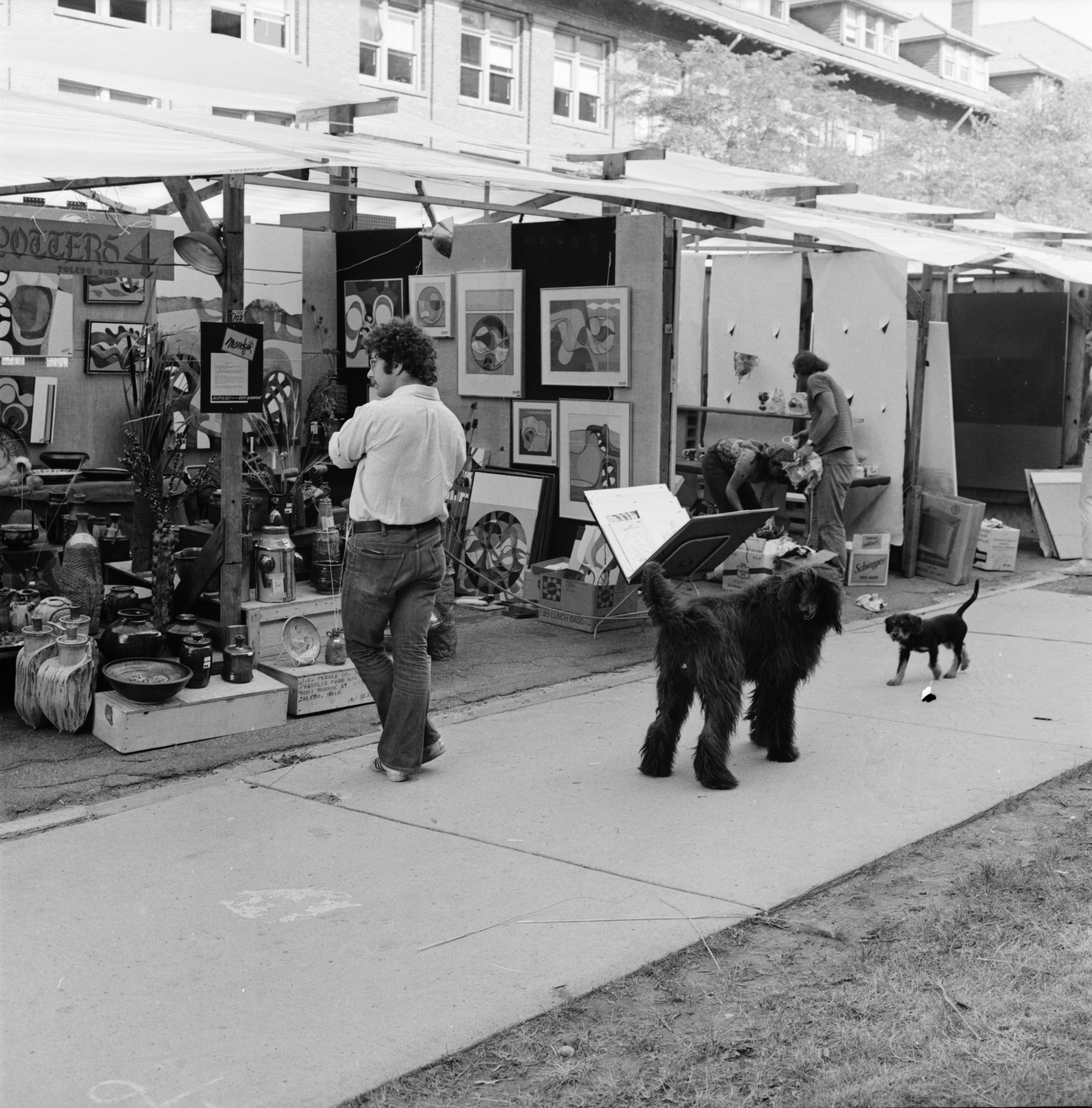 Dogs at the Ann Arbor Street Art Fair, July 1971 image
