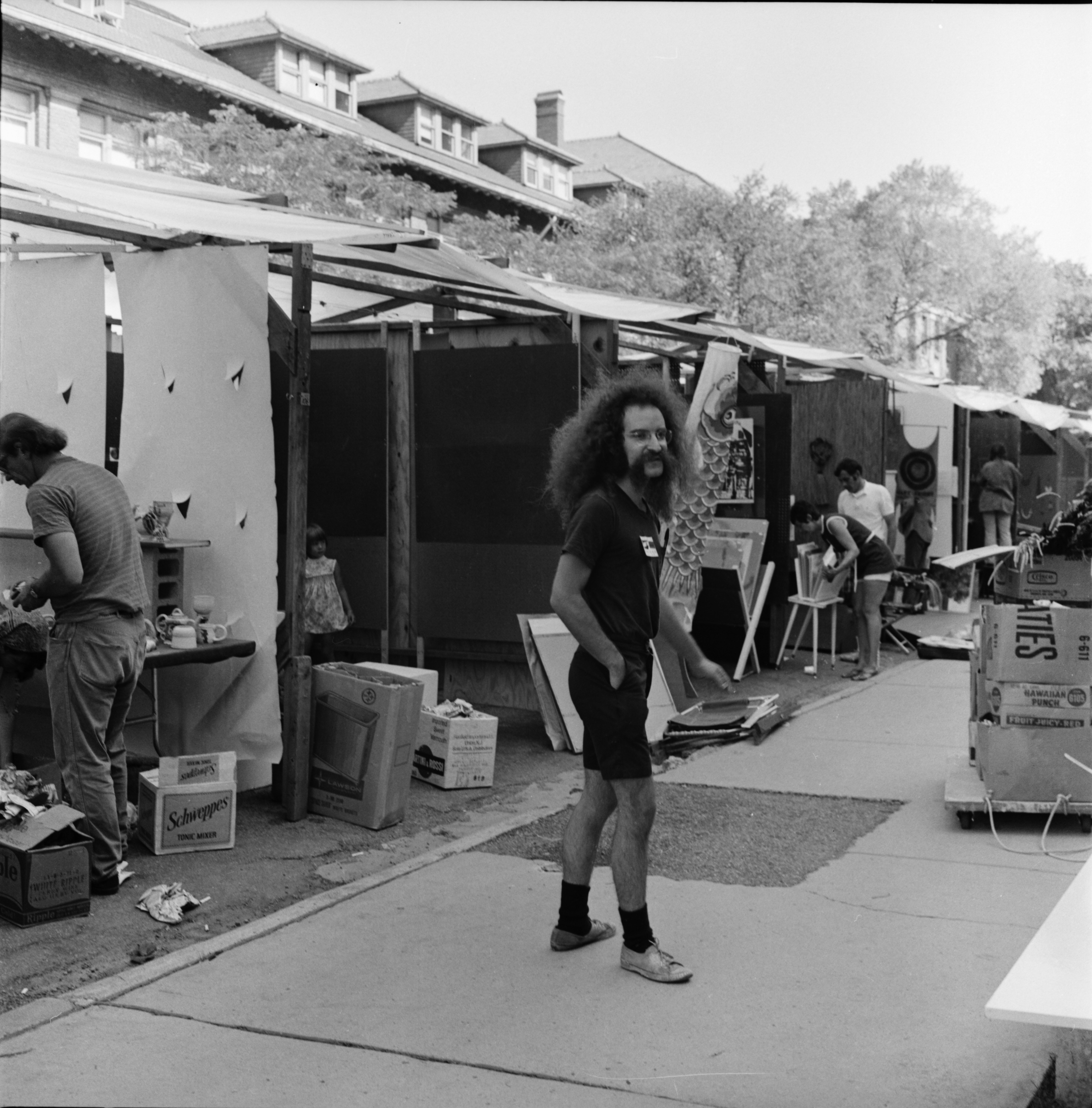 Artist at the Ann Arbor Street Art Fair, July 1971 image