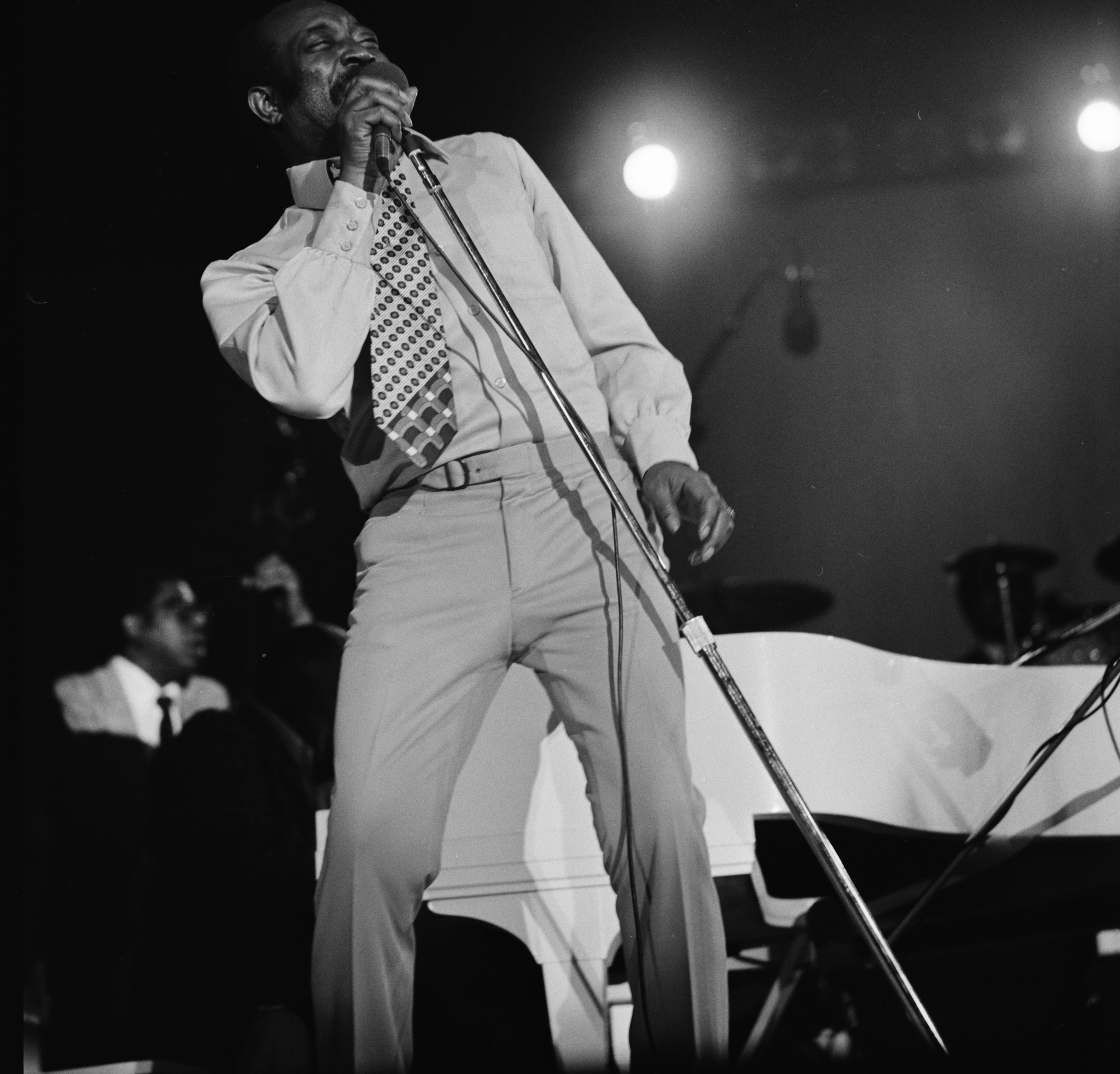 Jimmy Ricks of the Count Basie Orchestra at the 1973 Ann Arbor Blues and Jazz Festival image