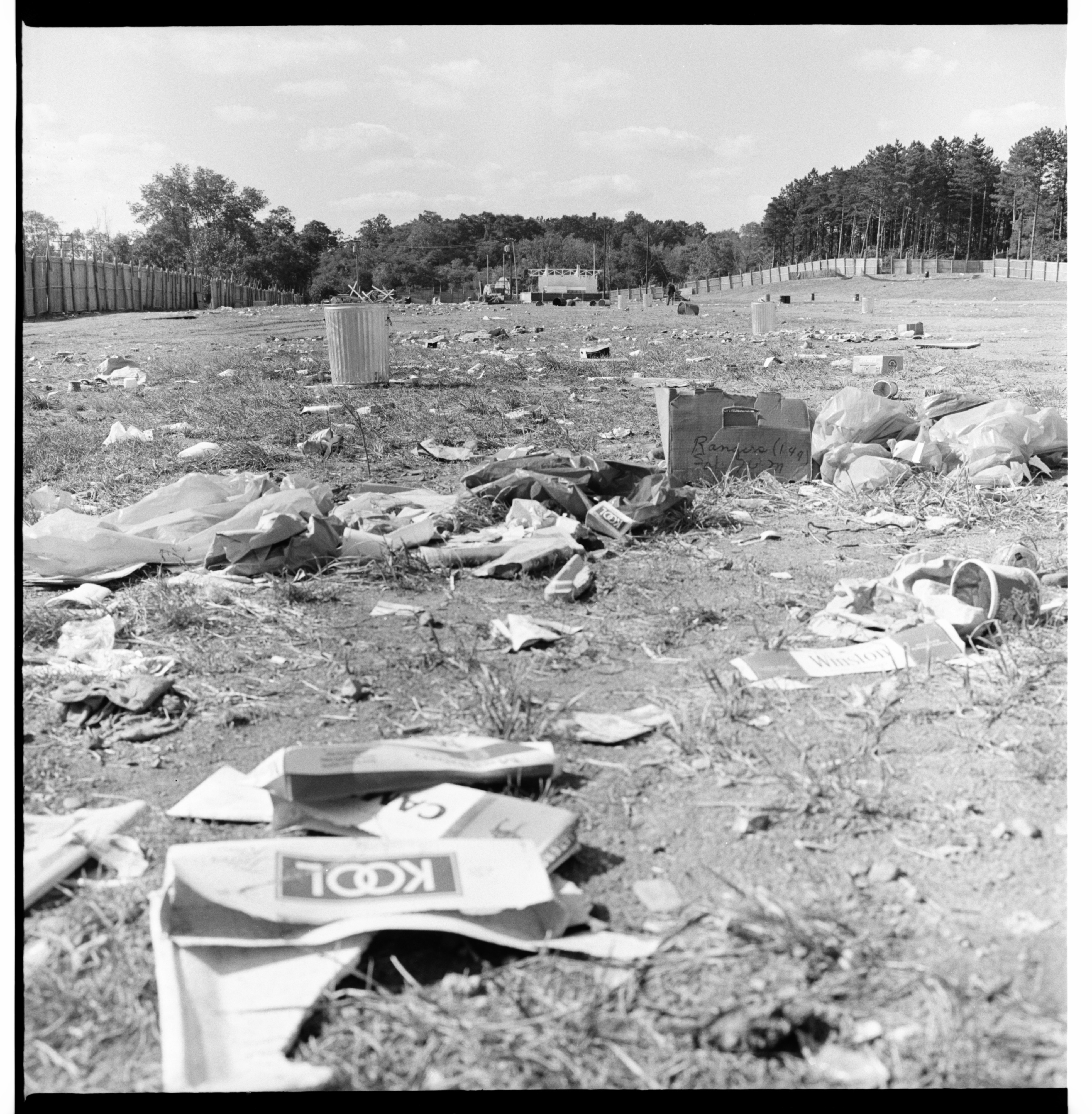 Trashed Field After Blues Festival image