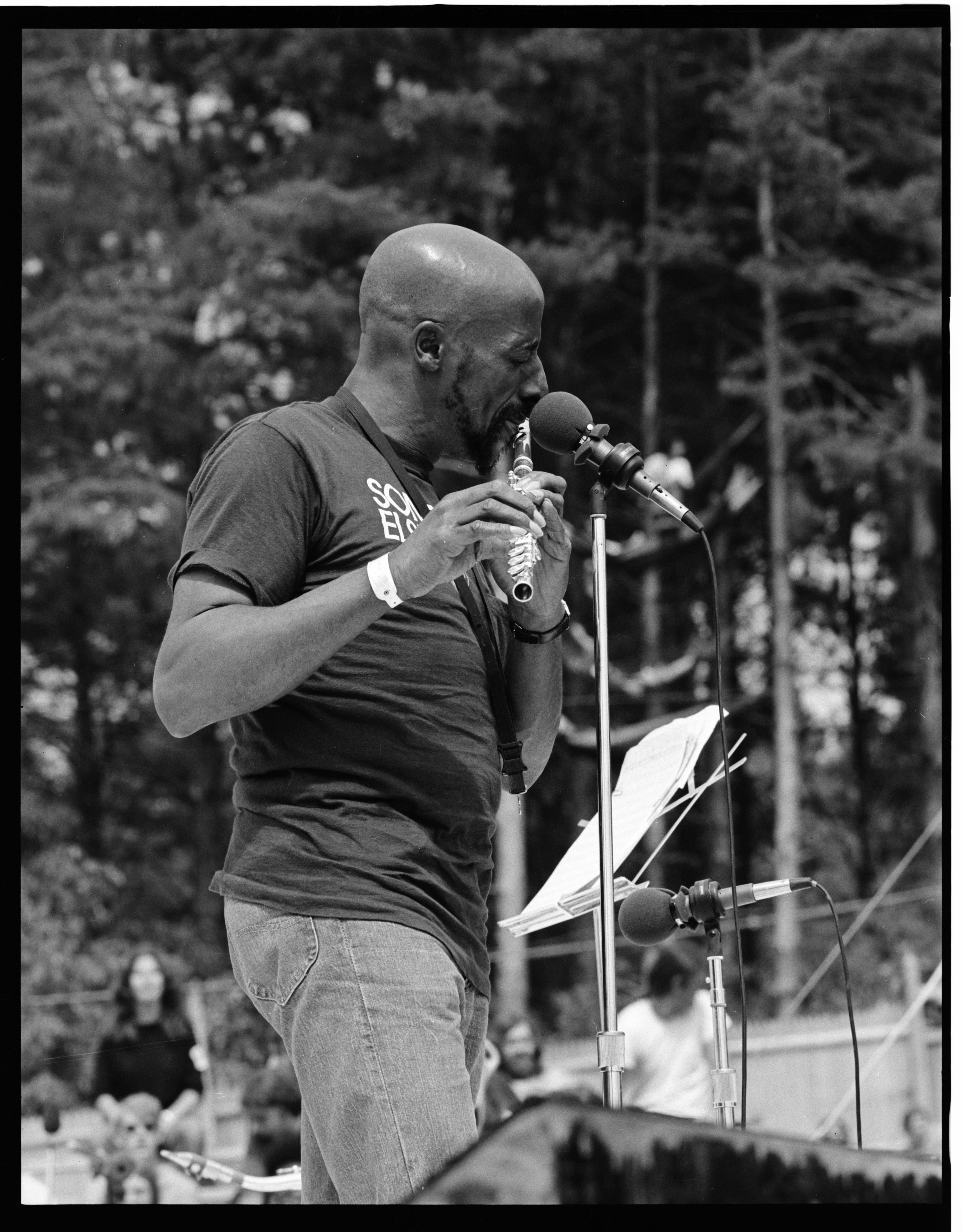 Yusef Lateef On Stage at the 1973 Ann Arbor Blues and Jazz Festival image