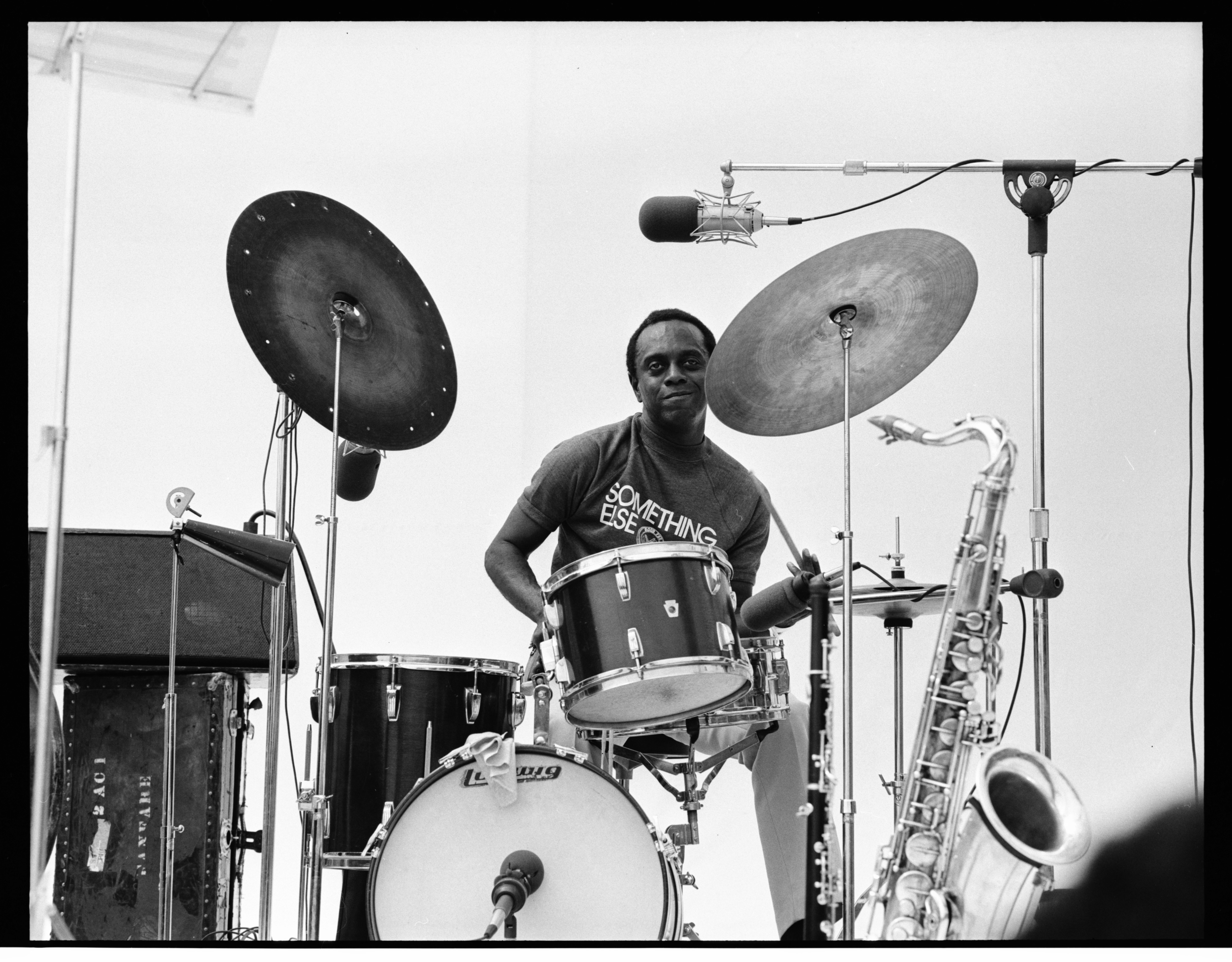 "Albert ""Tootie"" Heath Playing with Yusef Lateef at the 1973 Ann Arbor Blues and Jazz Festival image"