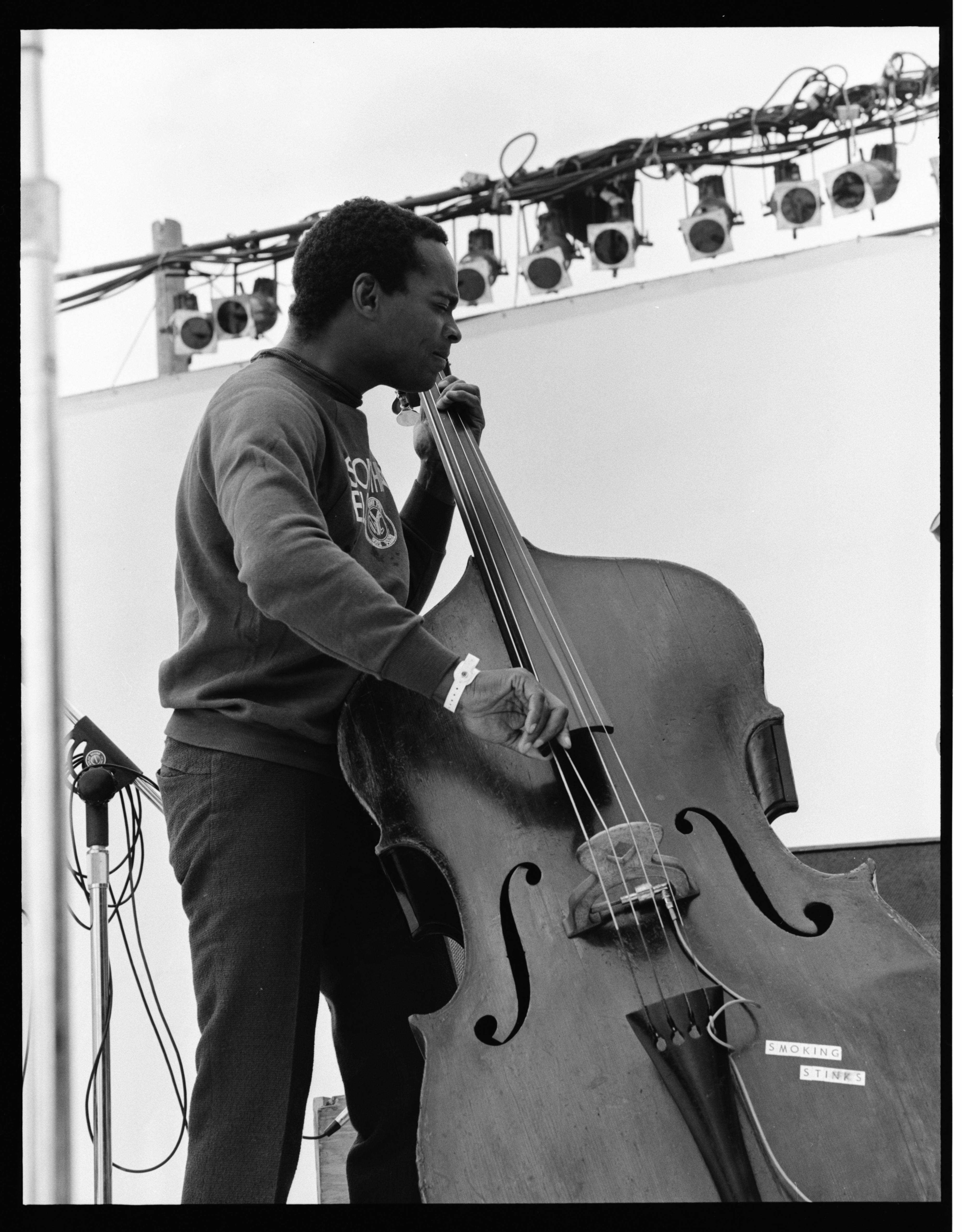 Robert Cunningham Playing with Yusef Lateef at the 1973 Ann Arbor Blues and Jazz Festival image