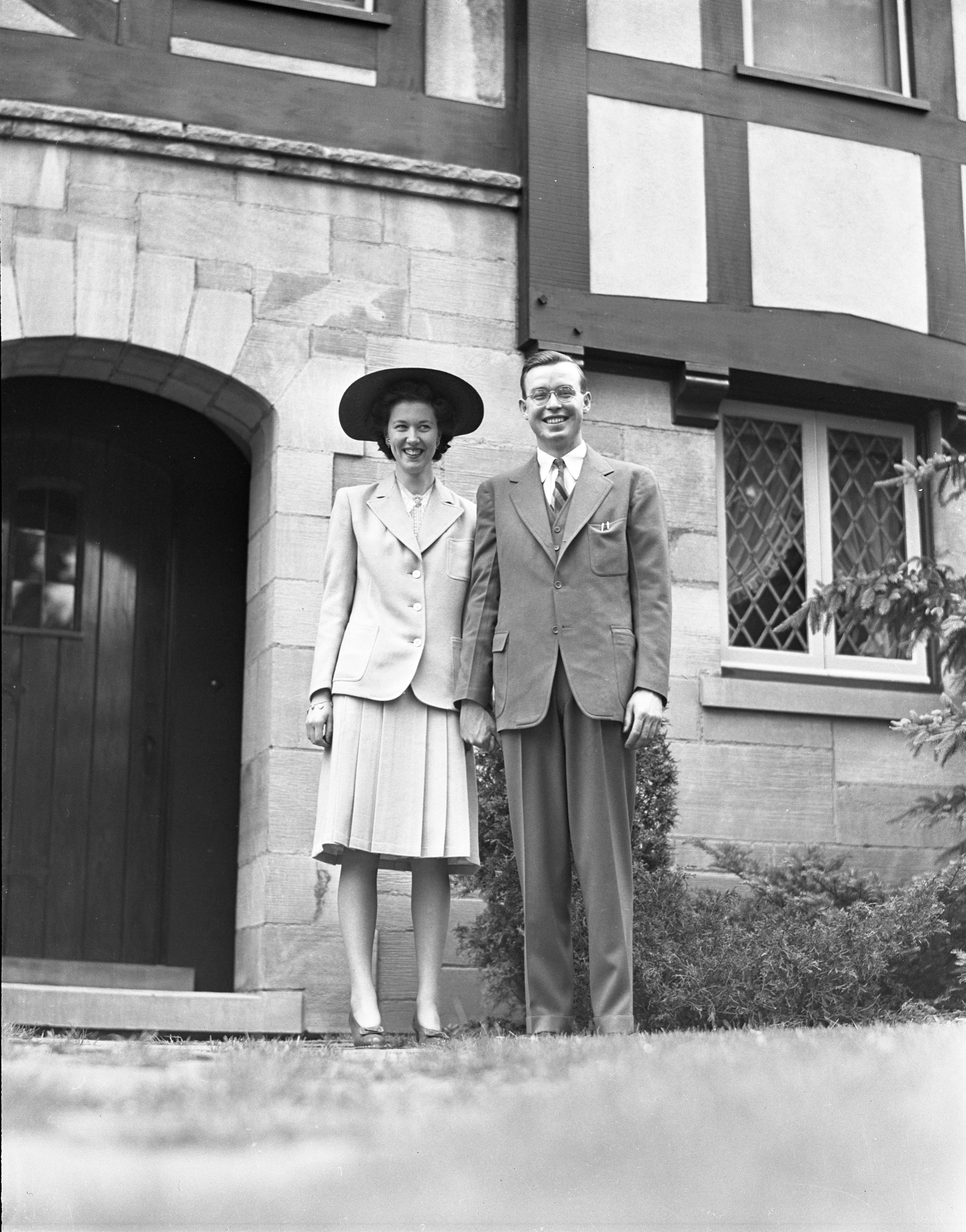 Dorothy Dale & John MacKenzie On Their Wedding Day - May 27, 1942 image