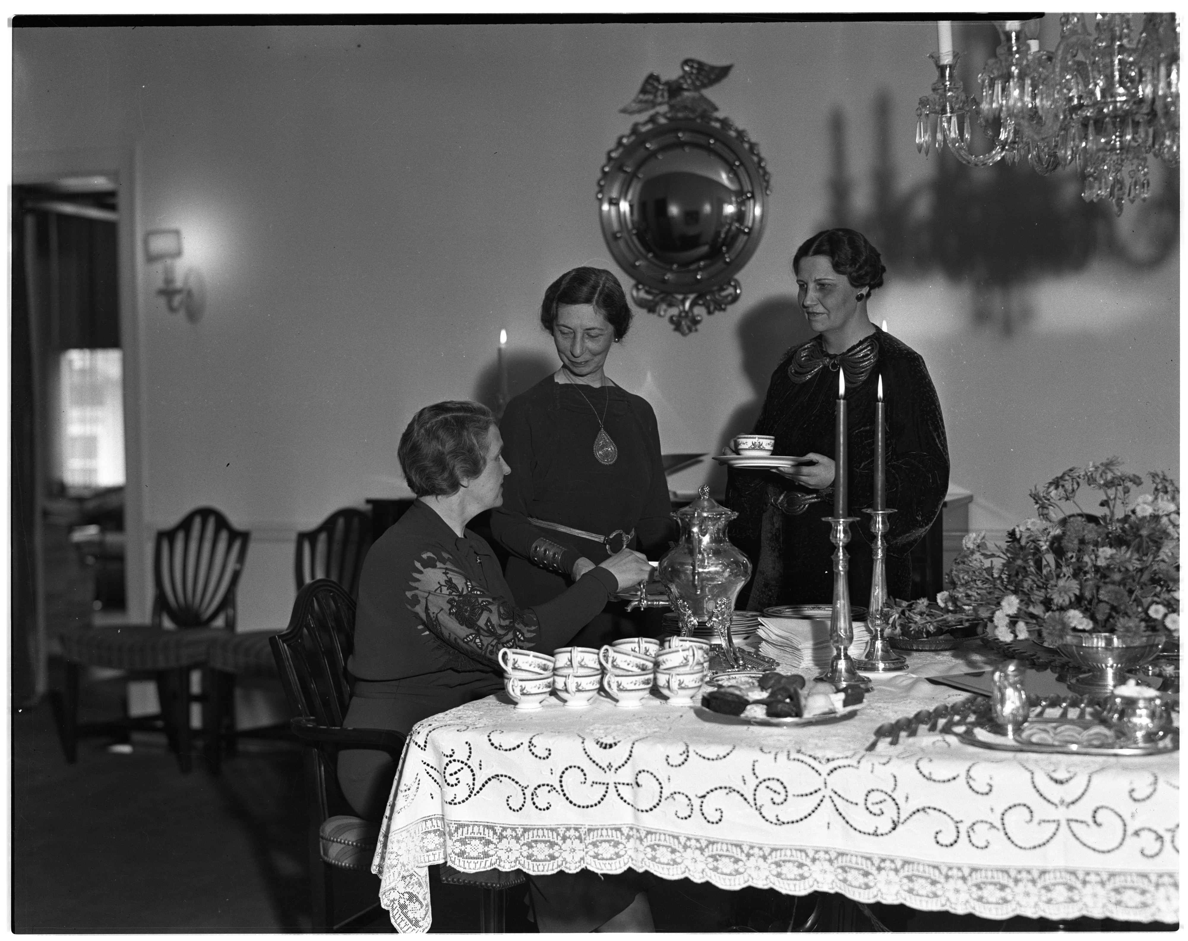 Child Study Club Having Tea with Mrs Alex G. Ruthven, Mrs. Louis H. Hollway image