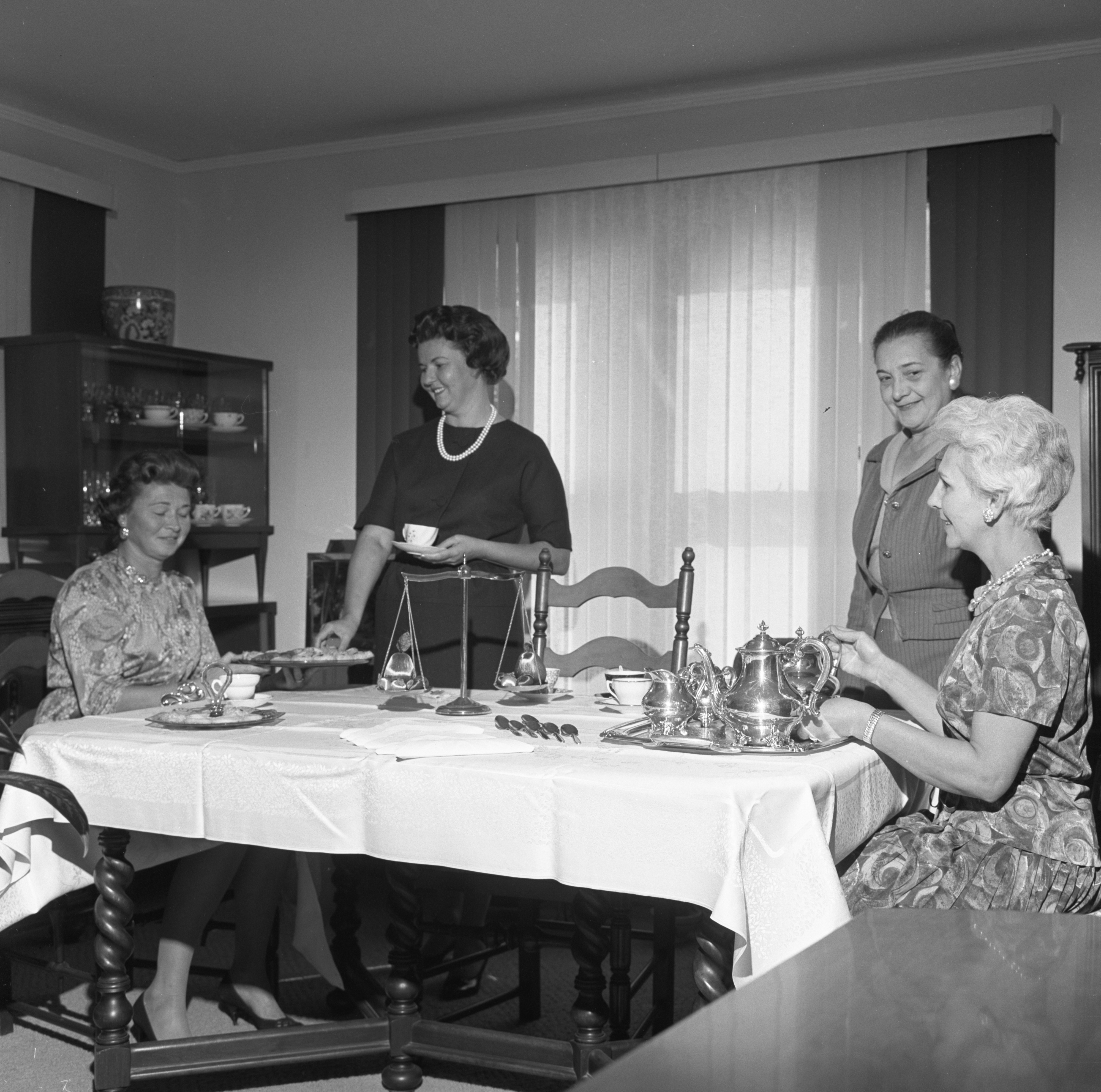 Ann Arbor Civic Ballet Board Members Have Tea, October 1963 image
