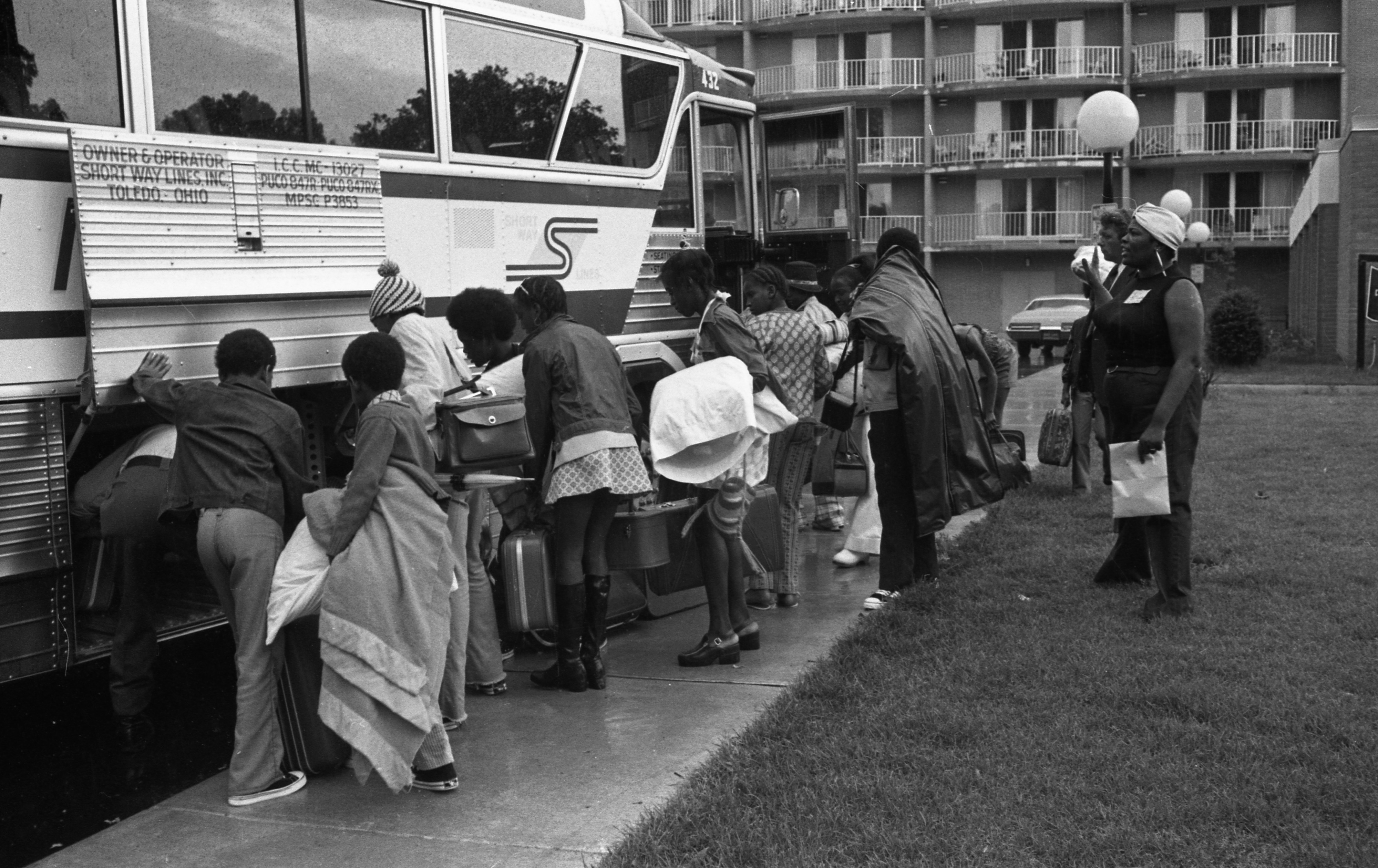 Ann Arbor Public Housing Youth Group Leaves For Week-Long Trip, July 1973 image