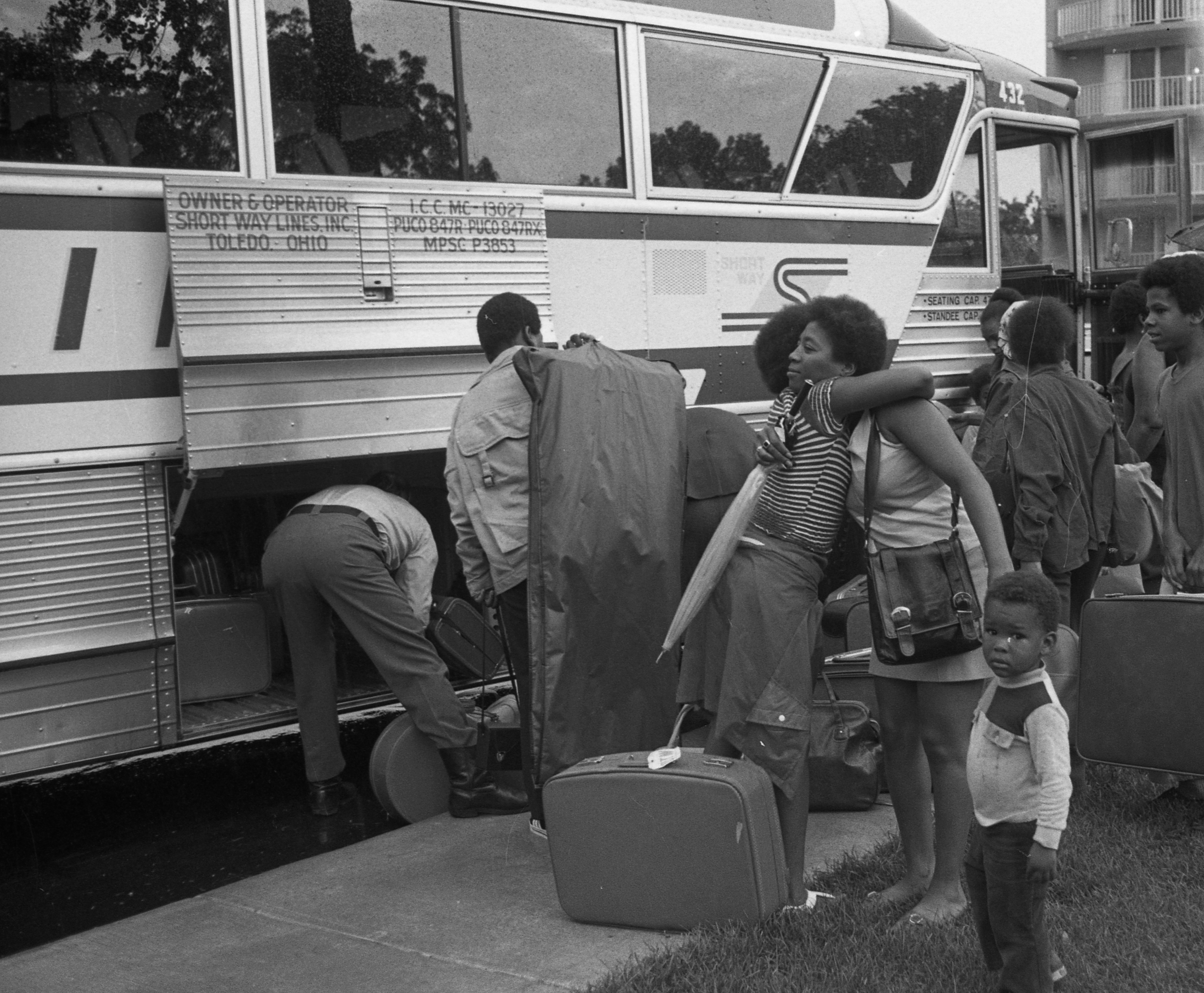 Ann Arbor Public Housing Youth Group Member Sheri Shipman Ready For Week-Long Trip, July 1973 image