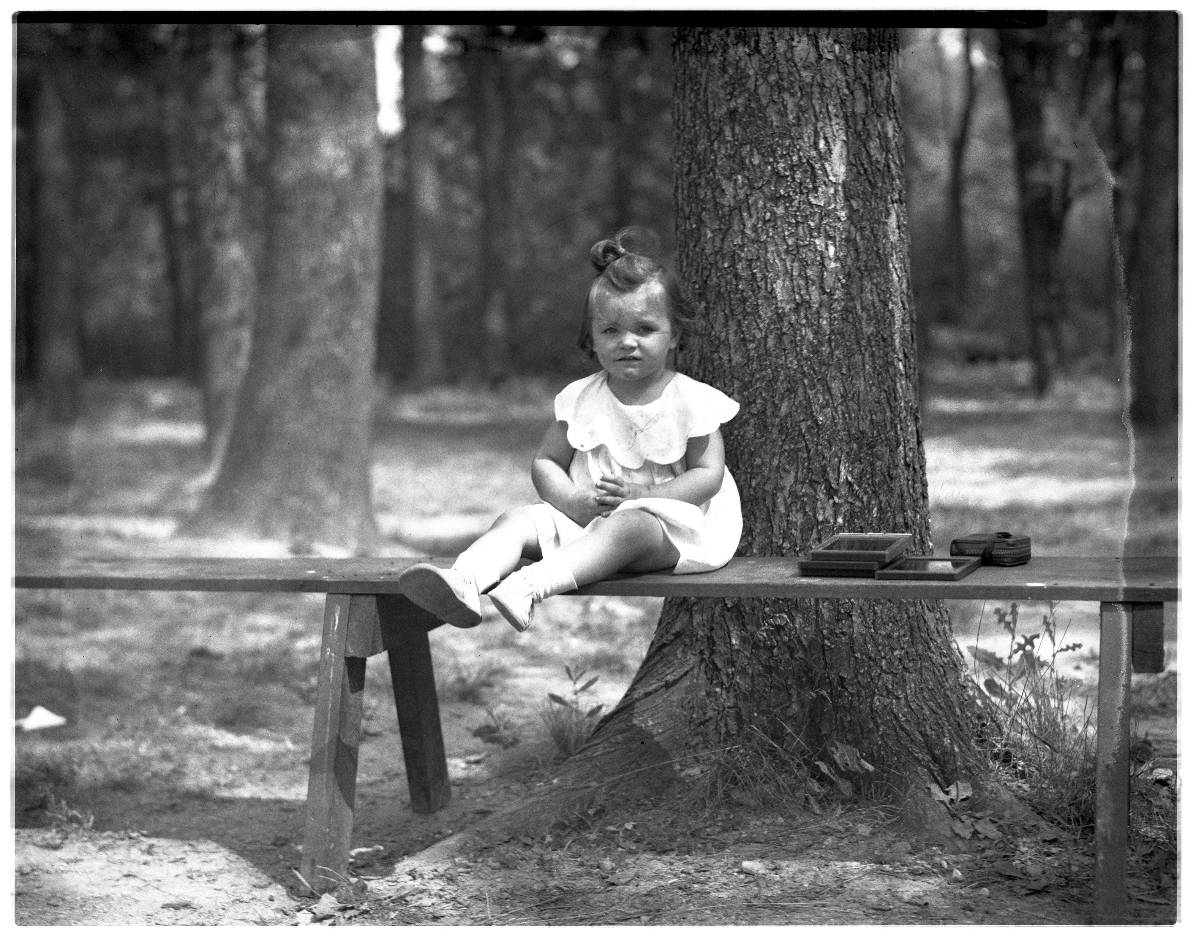 On the Bench at the 4-H Club-Kiwanis Picnic, August 1936 image
