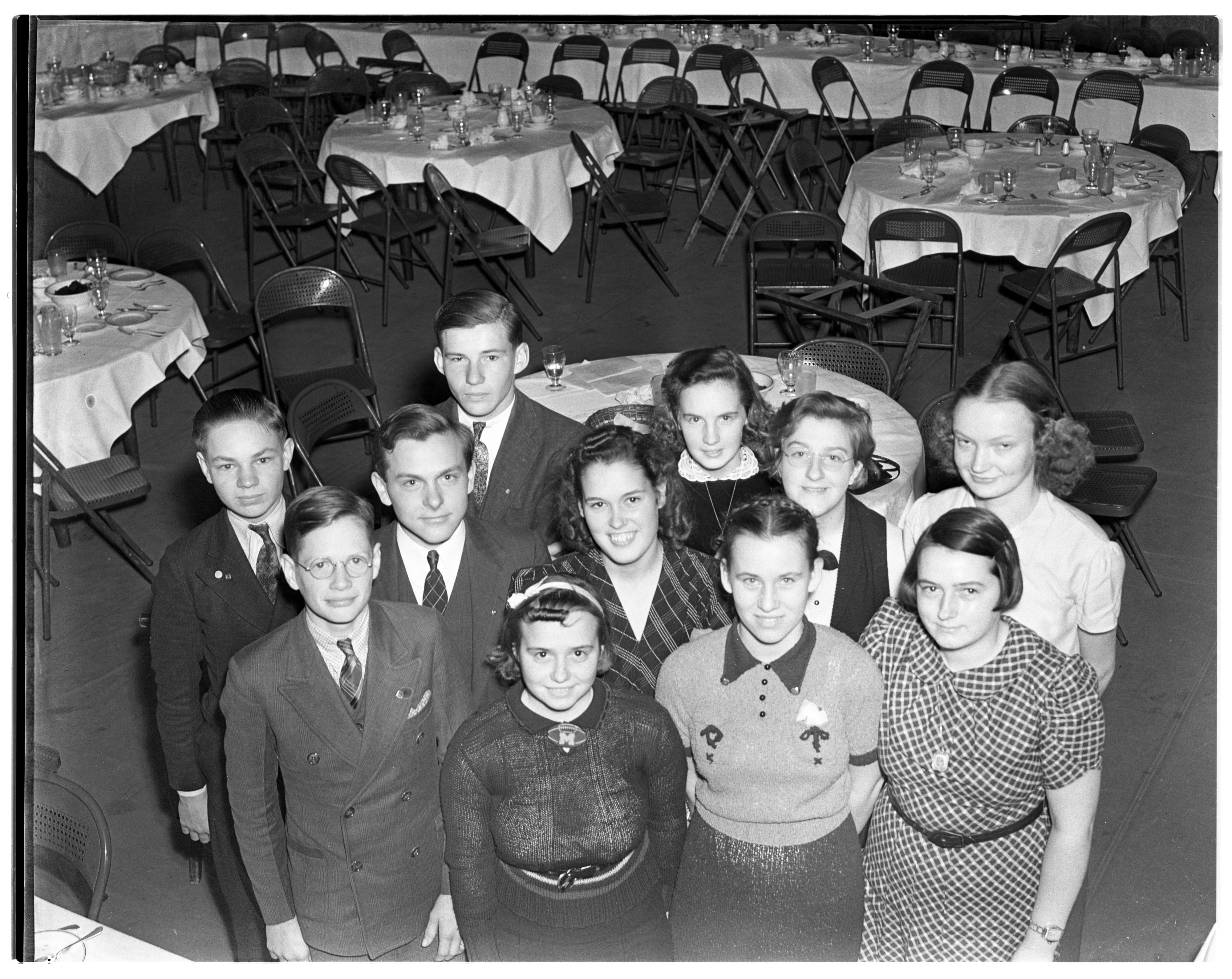 4-H Achievement Dinner At The Michigan Union, October 1938 image