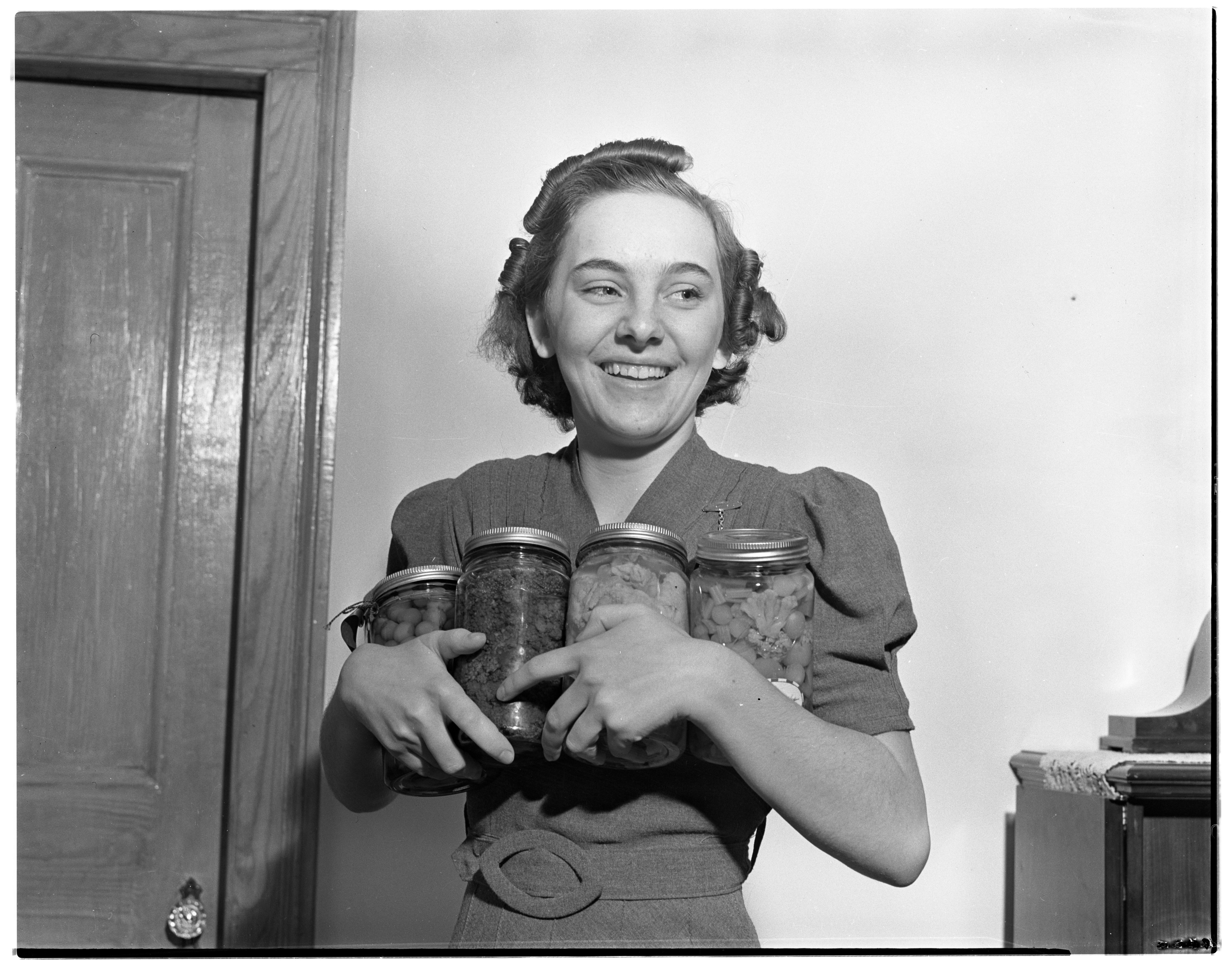 Faith McCrory, 4-H Canning Champion, November 1938 image