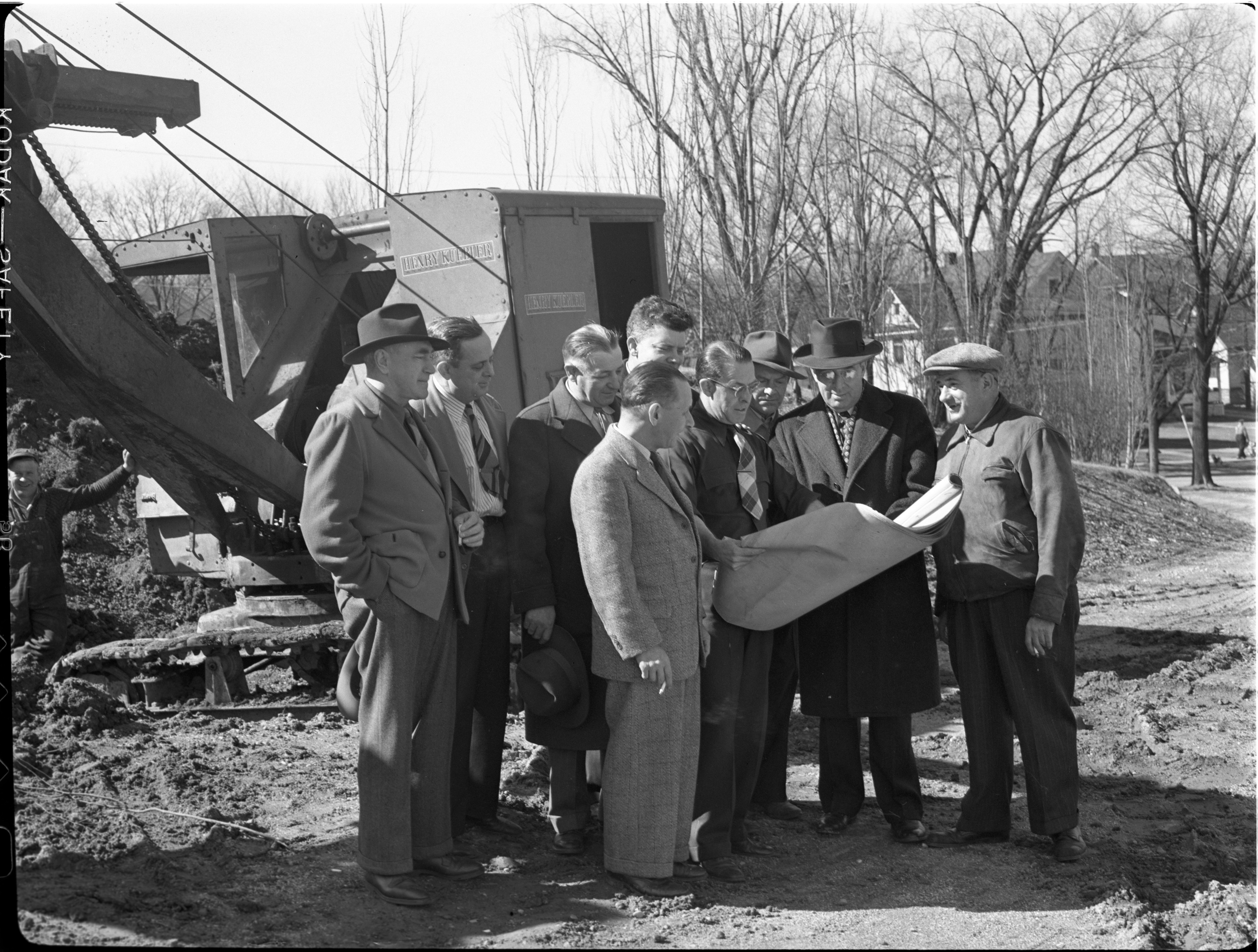 Ground Is Broken For An Addition To Erwin Prieskorn American Legion Post, March 1946 image