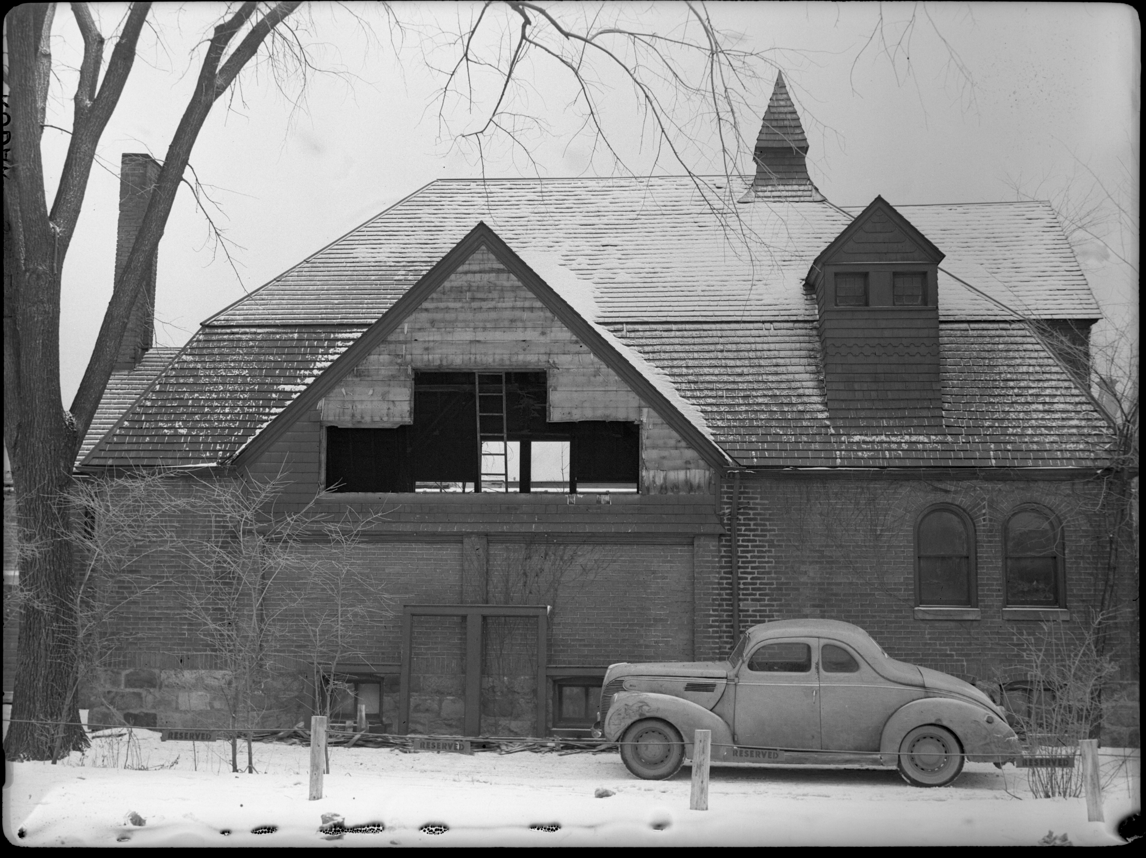 Demolition of Boy Scout Headquarters Building on East Huron Street, February 1946 image