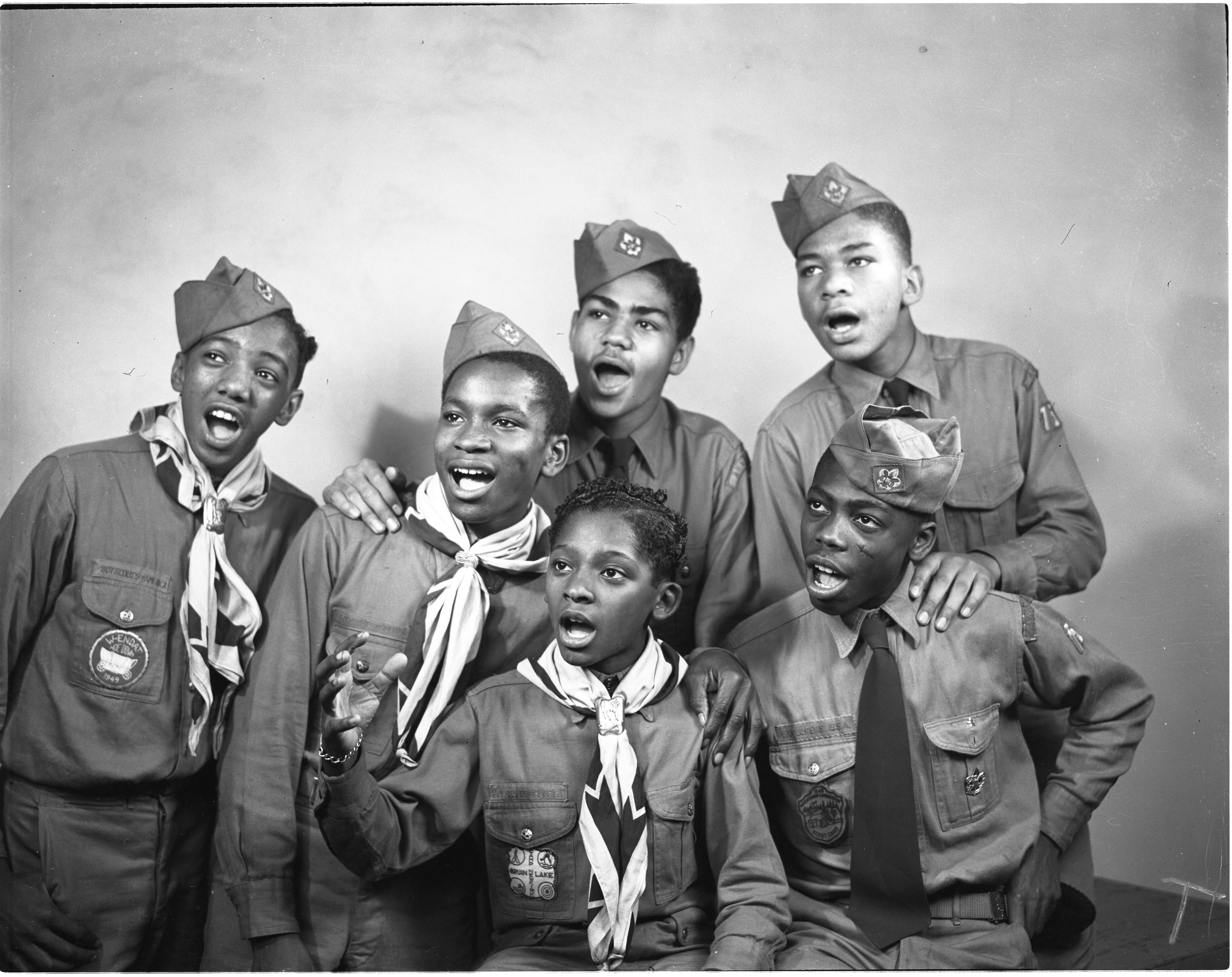 Members Of Boy Scout Troop 75 Form Sextet, 1949 image