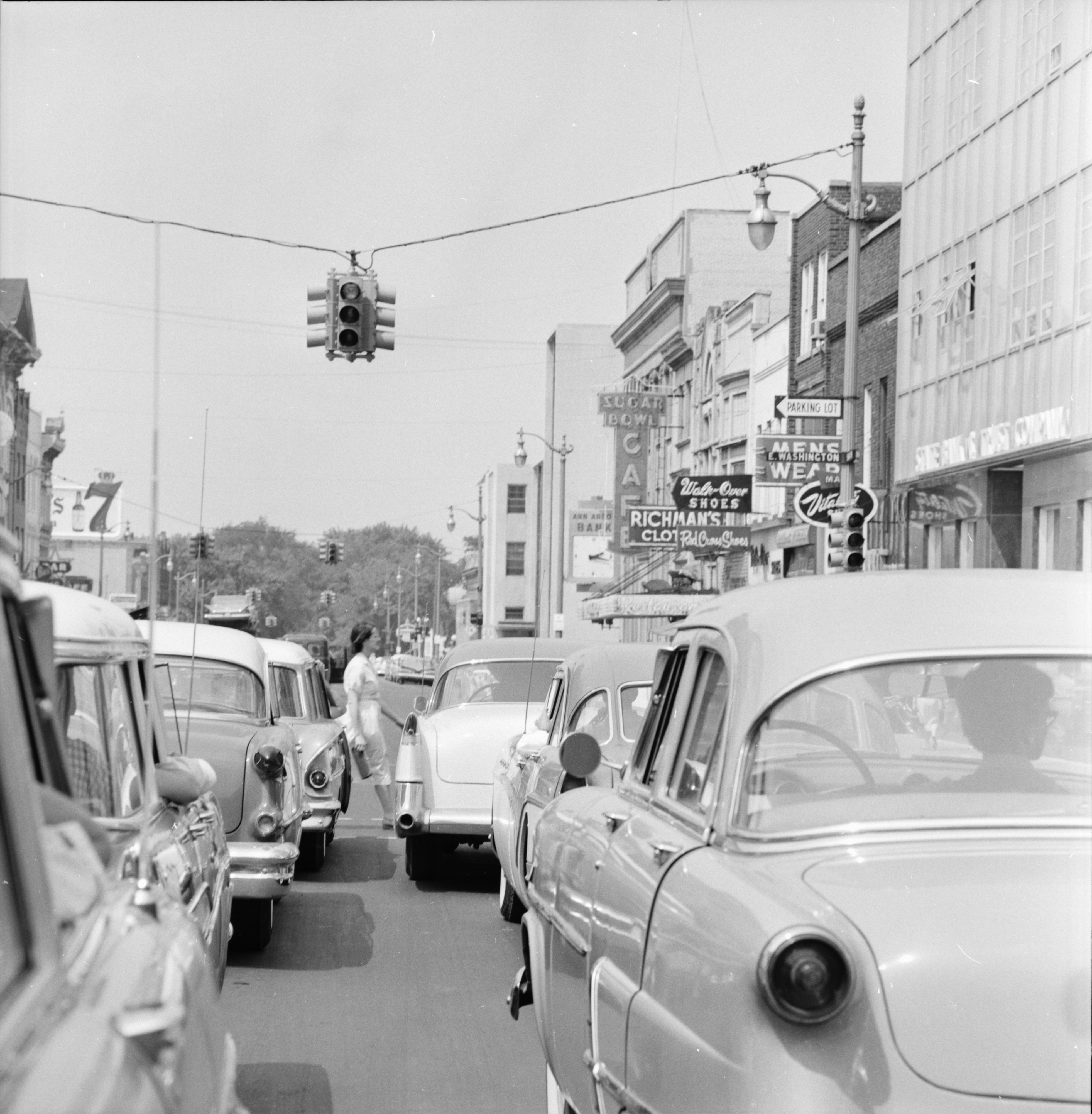 Civil Defense Test on Main Street, July 1959 image