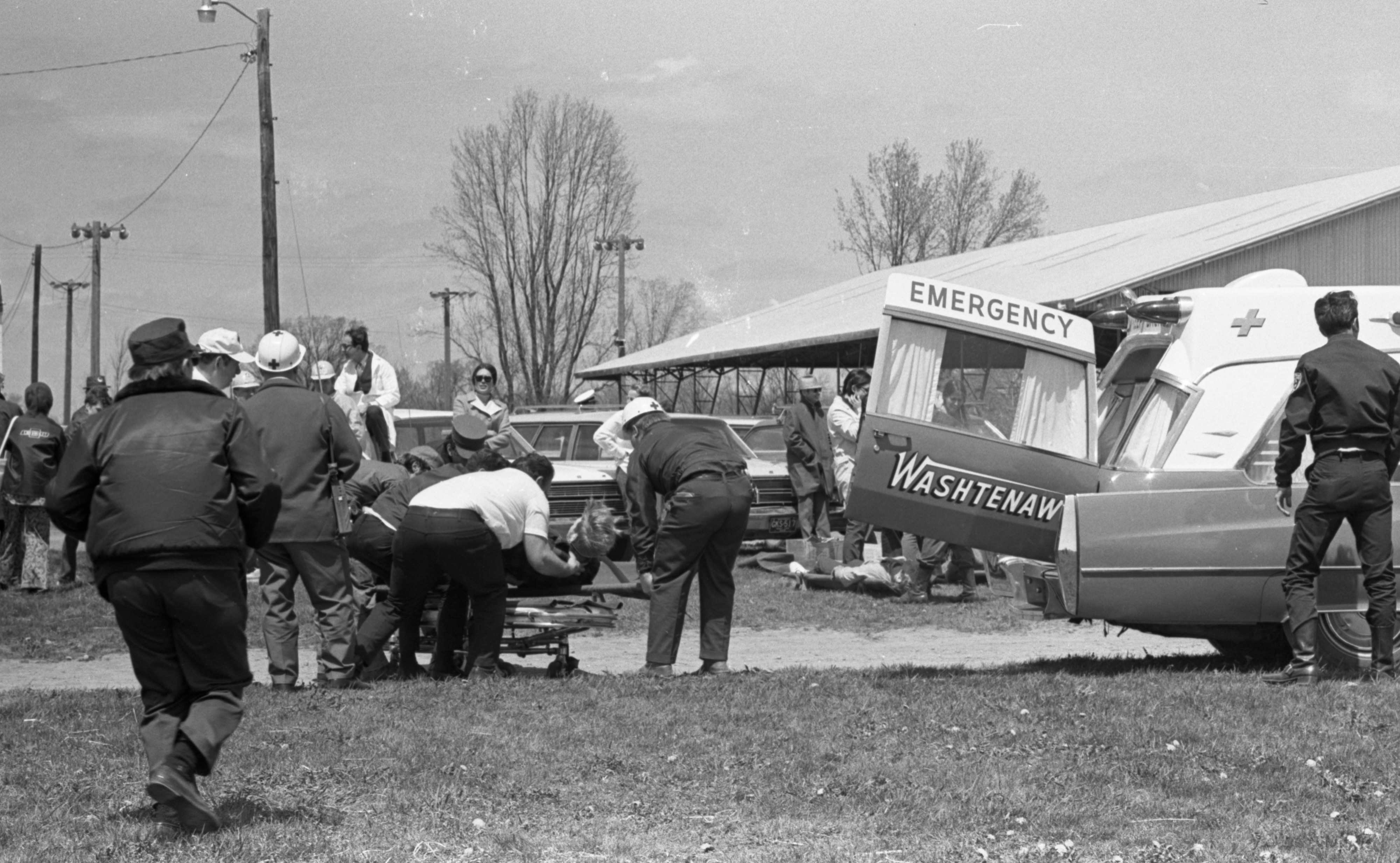 Civil Defense Mock Disaster at Farm Council Grounds, May 1971 image