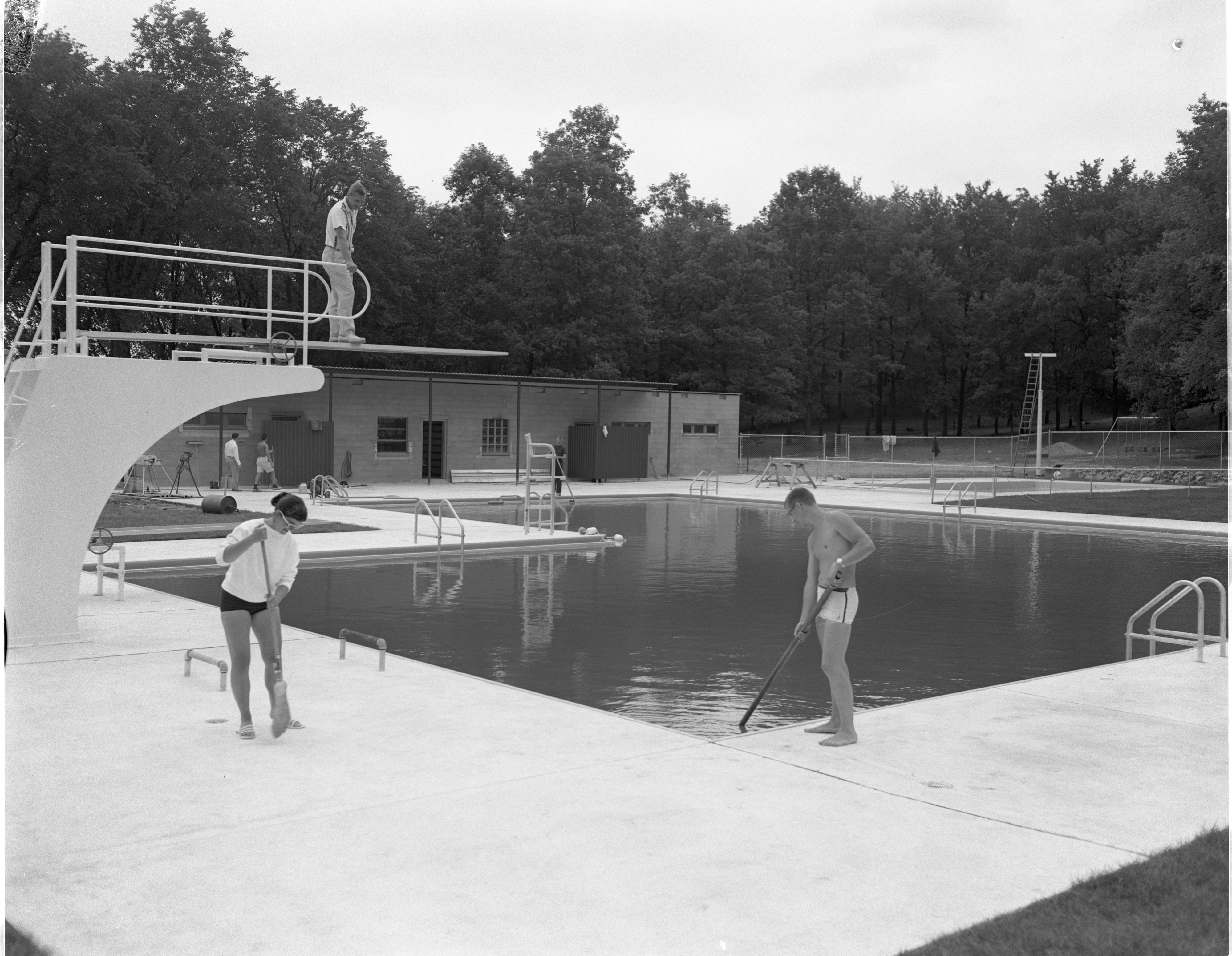 New Huron Valley Swim Club Pool Ready For Grand Opening, July 1958 image