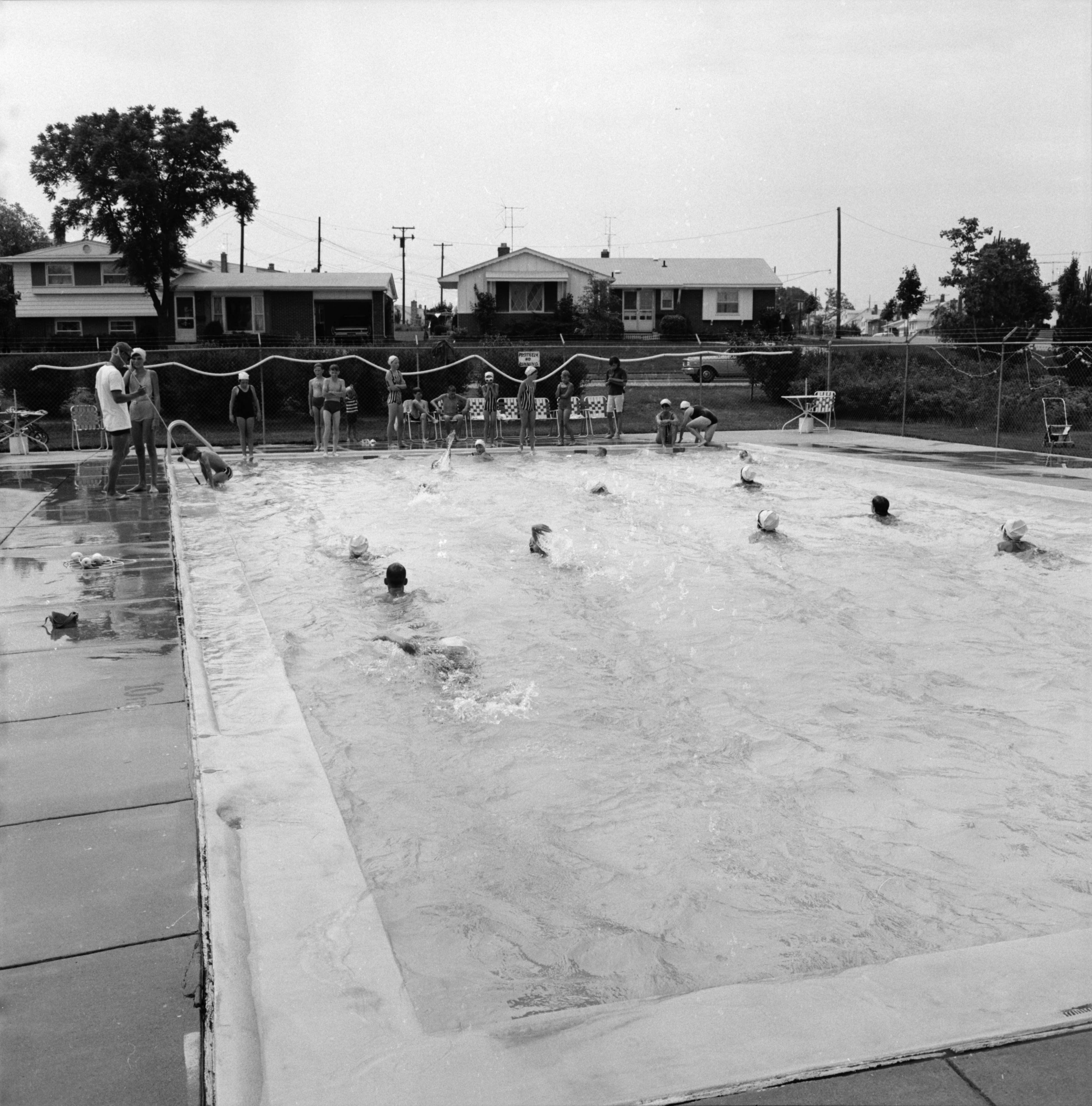 Pool at Forestbrooke Athletic Club, June 1966 image