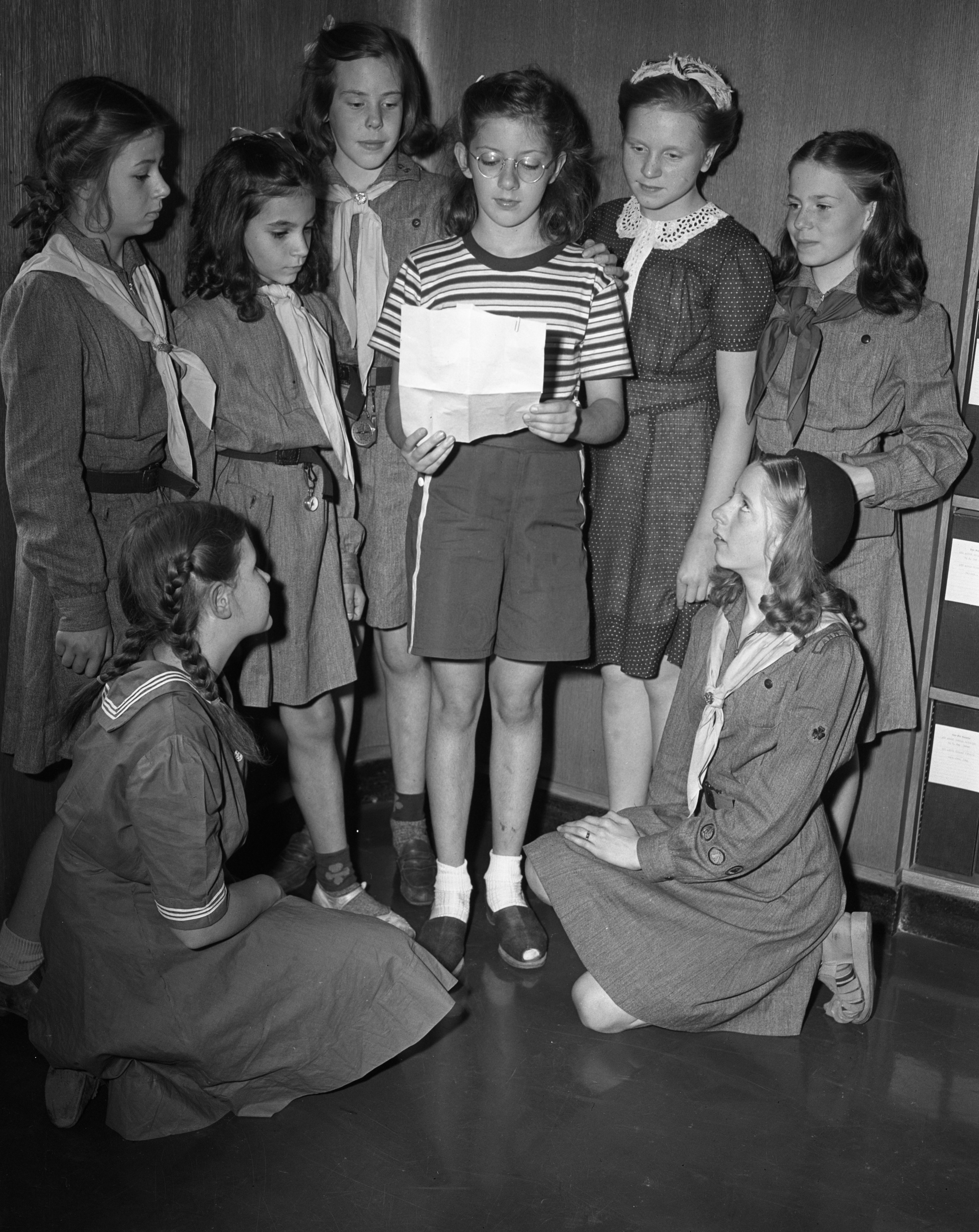 Girl Scouts Buy War Bond, July 1942 image