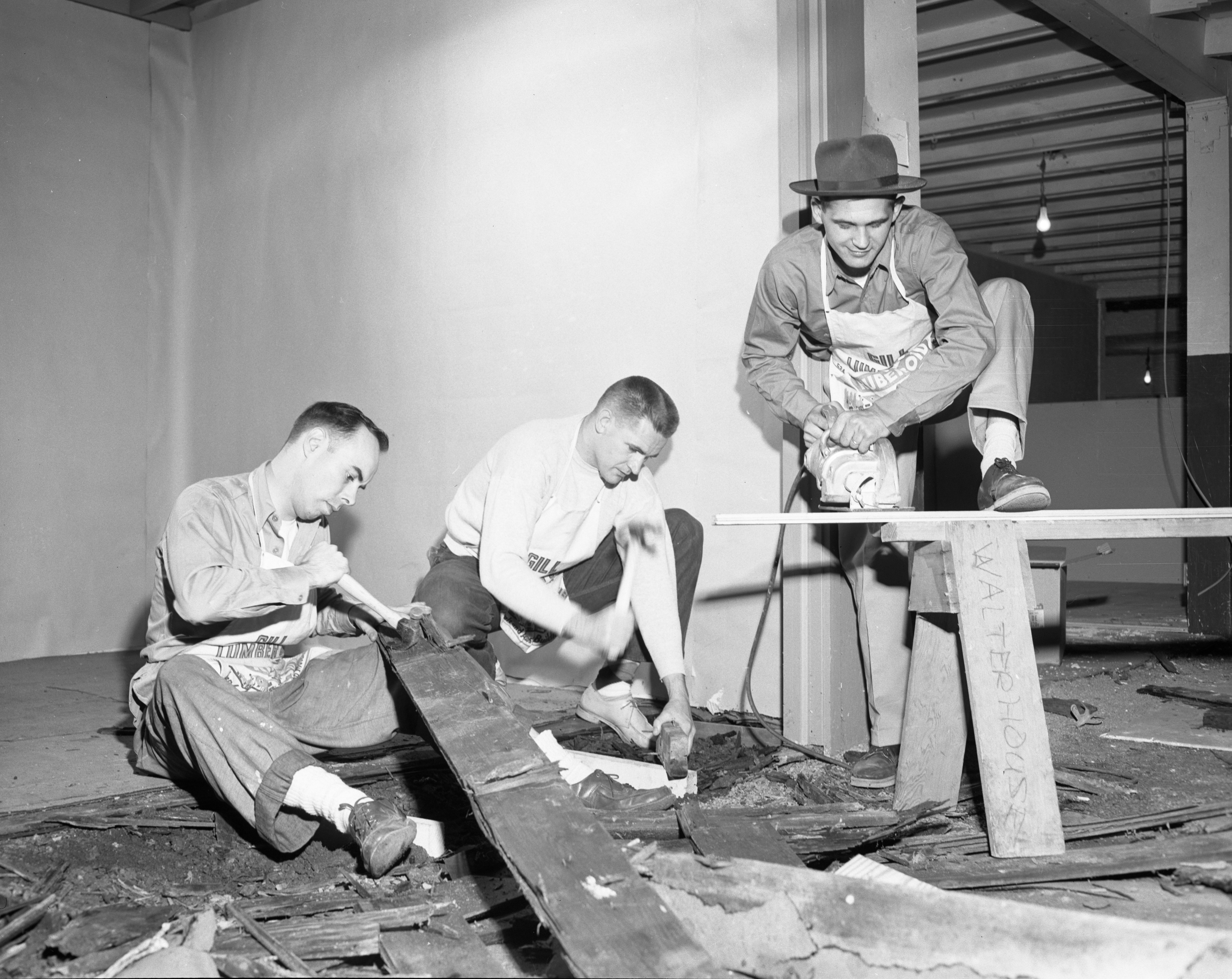 Preparing Booths for Builders Show, May 1955 image