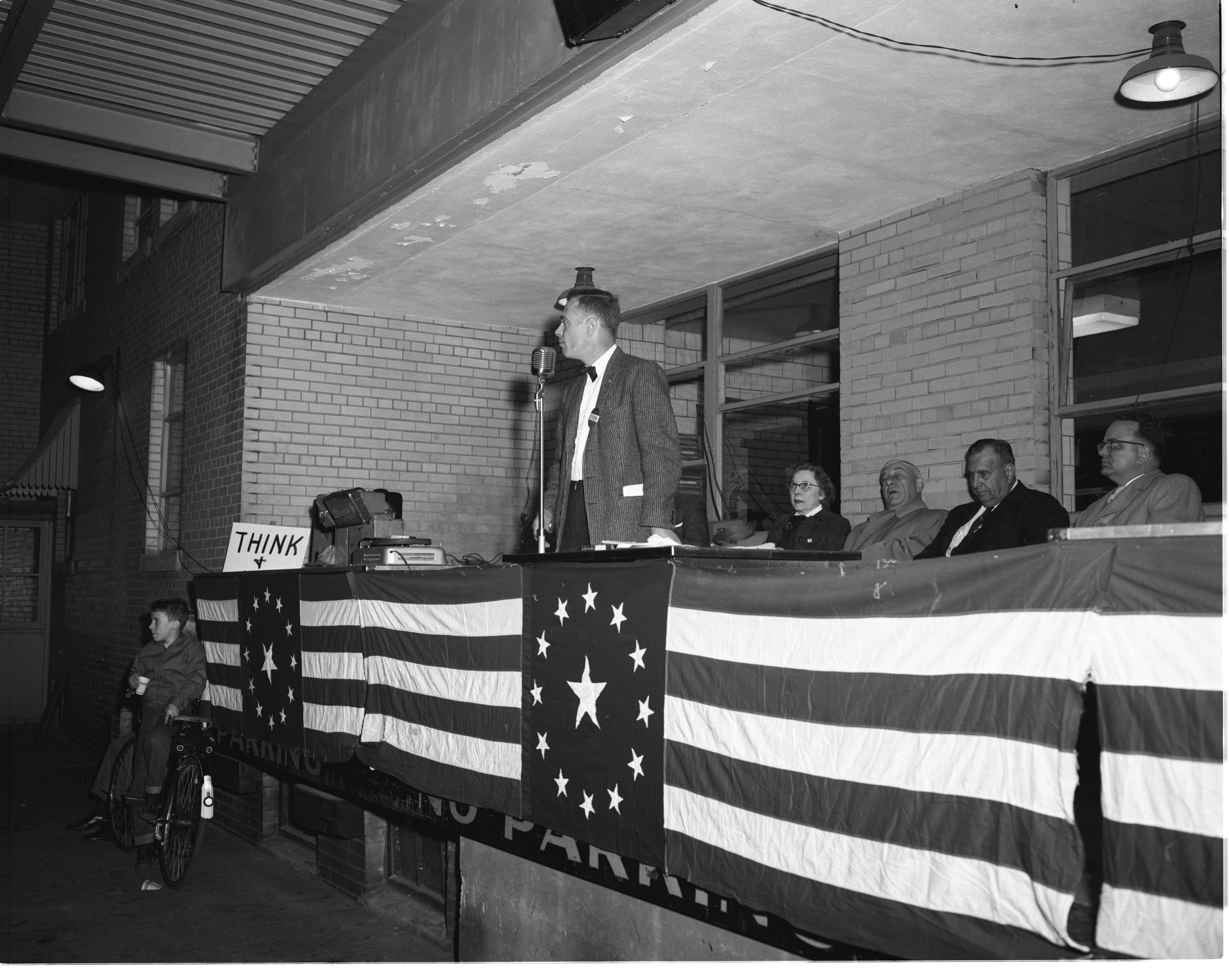 Arthur E. Carpenter Speaks At The Get-Out-The-Vote Rally, October 1956 image