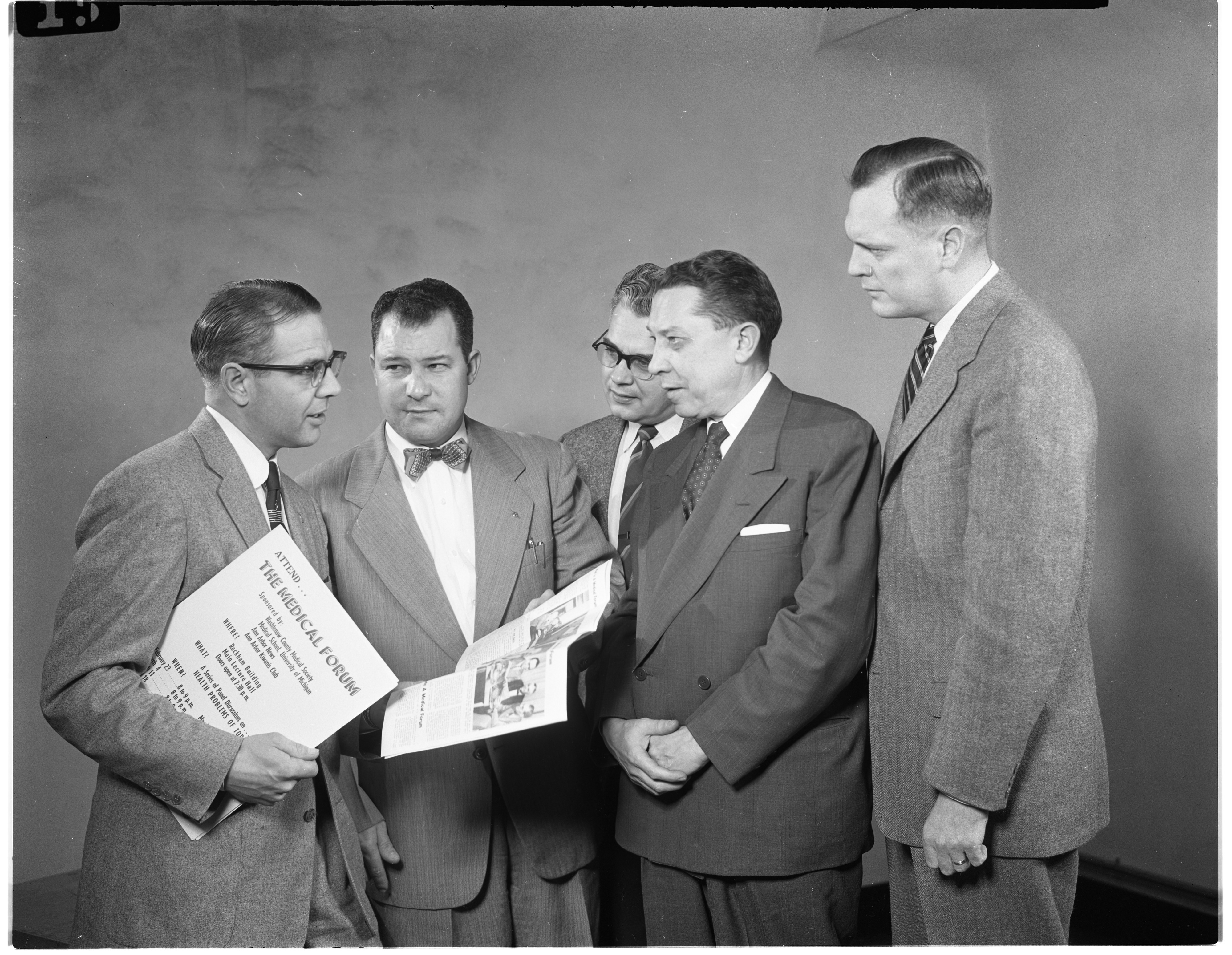 Kiwanis Club To Sponsor Series of Medical Forums at Rackham, February 1954 image